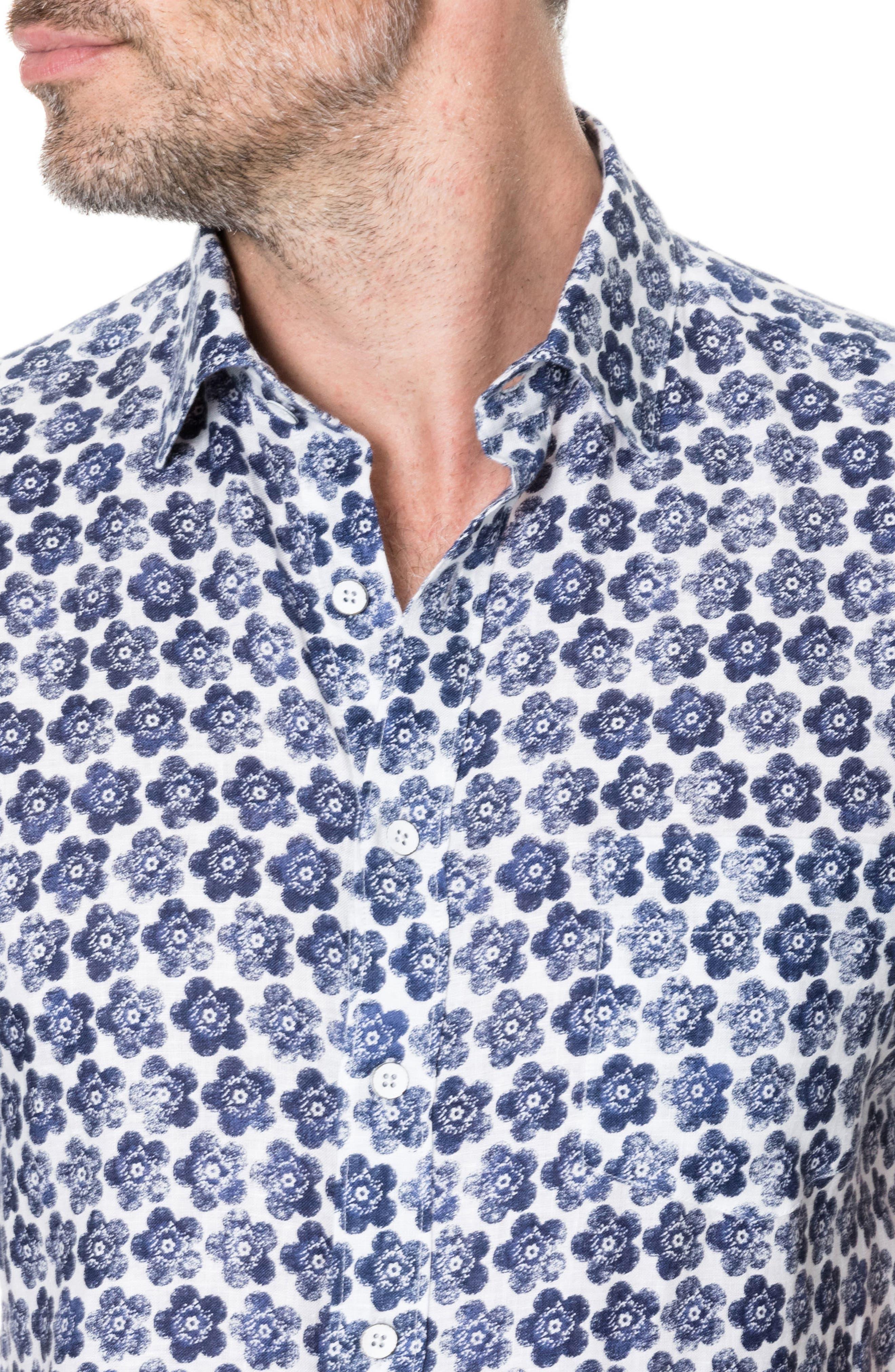 Keyburn Regular Fit Sport Shirt,                             Alternate thumbnail 3, color,                             PEACOAT