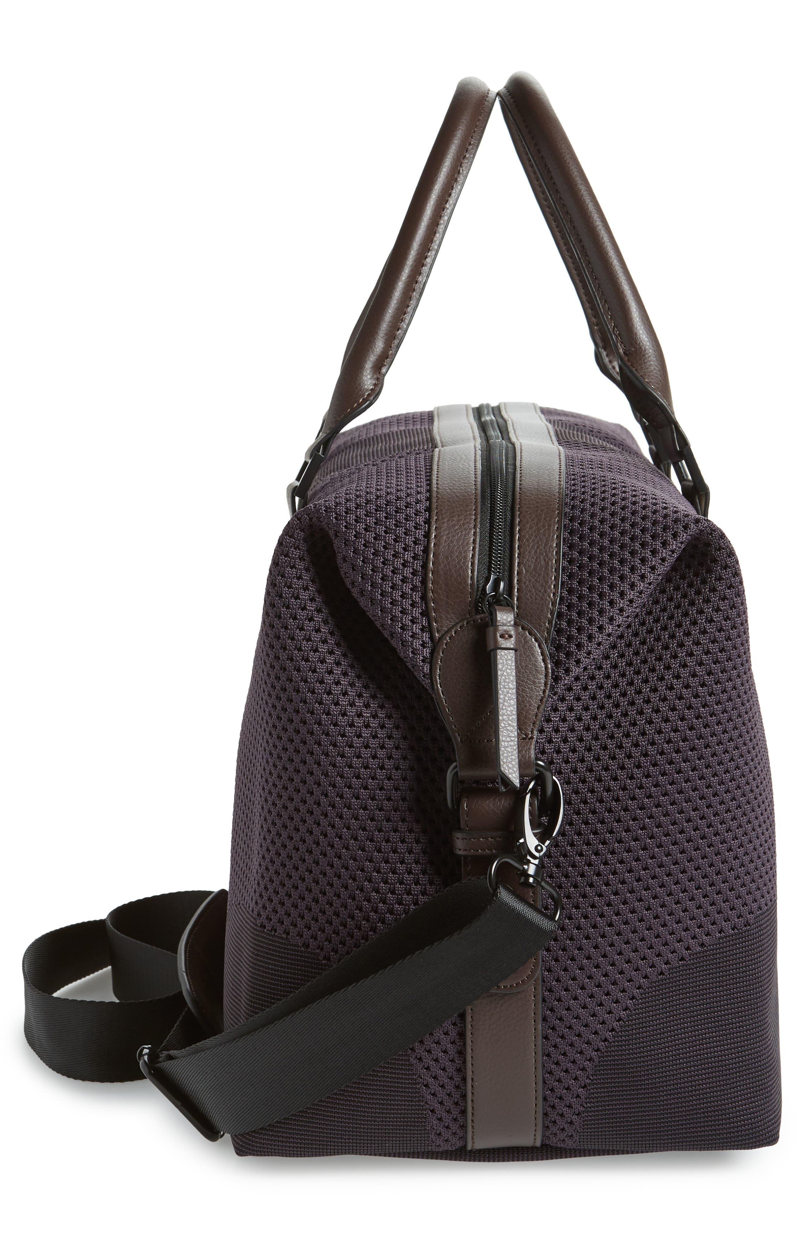 TED BAKER LONDON,                             Knit Holdall Duffel Bag,                             Alternate thumbnail 5, color,                             531