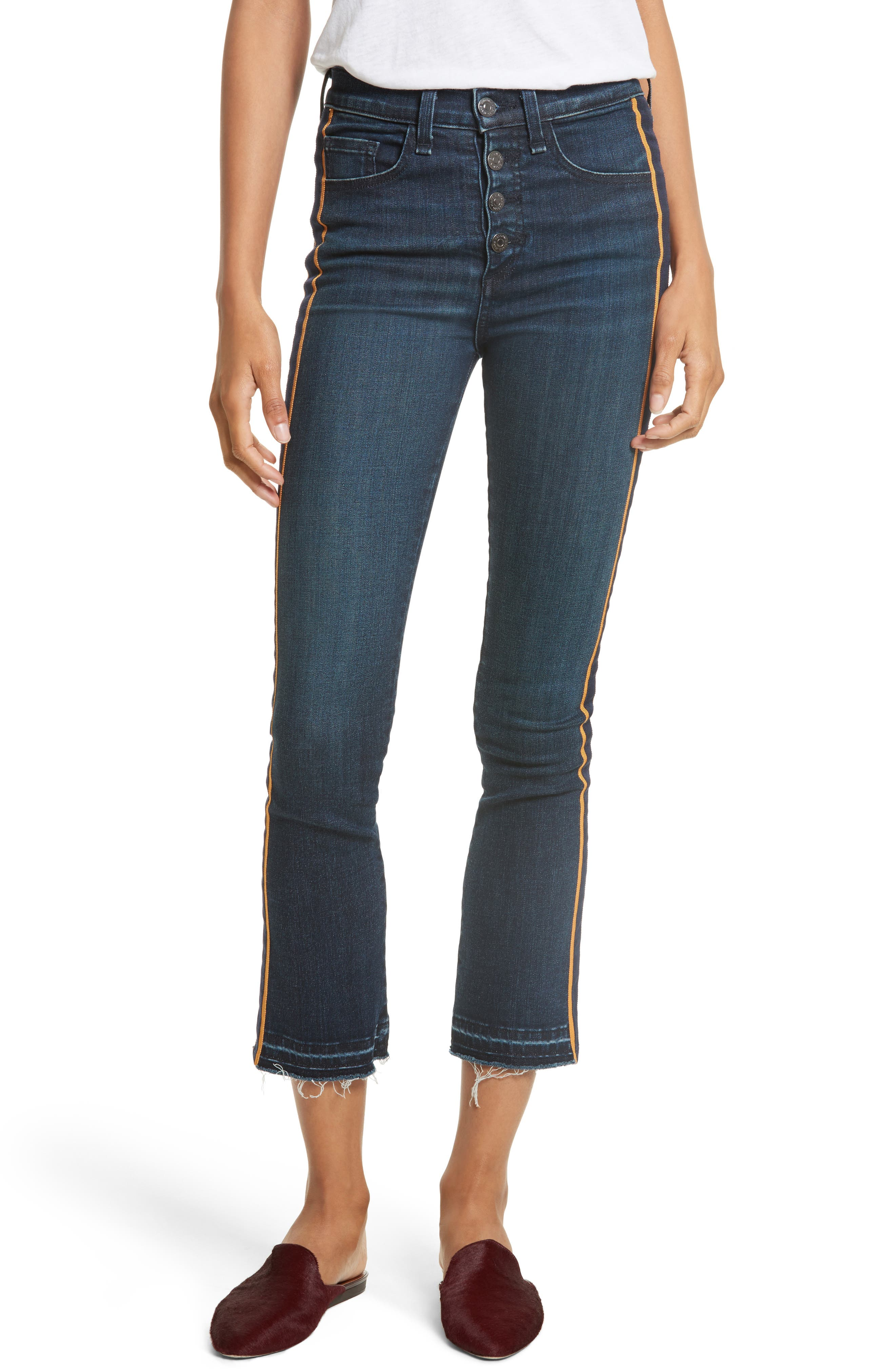 VERONICA BEARD Carolyn Baby Boot Crop Jeans, Main, color, 412