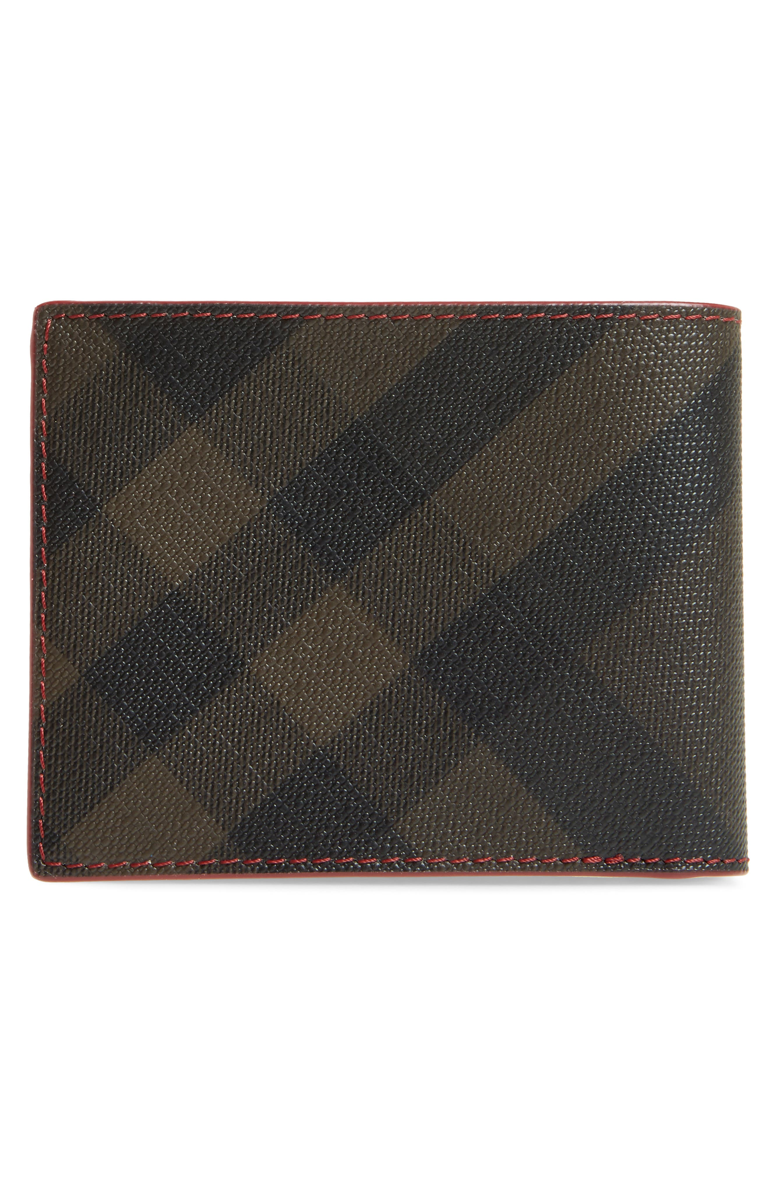 Check Faux Leather Wallet,                             Alternate thumbnail 3, color,                             207