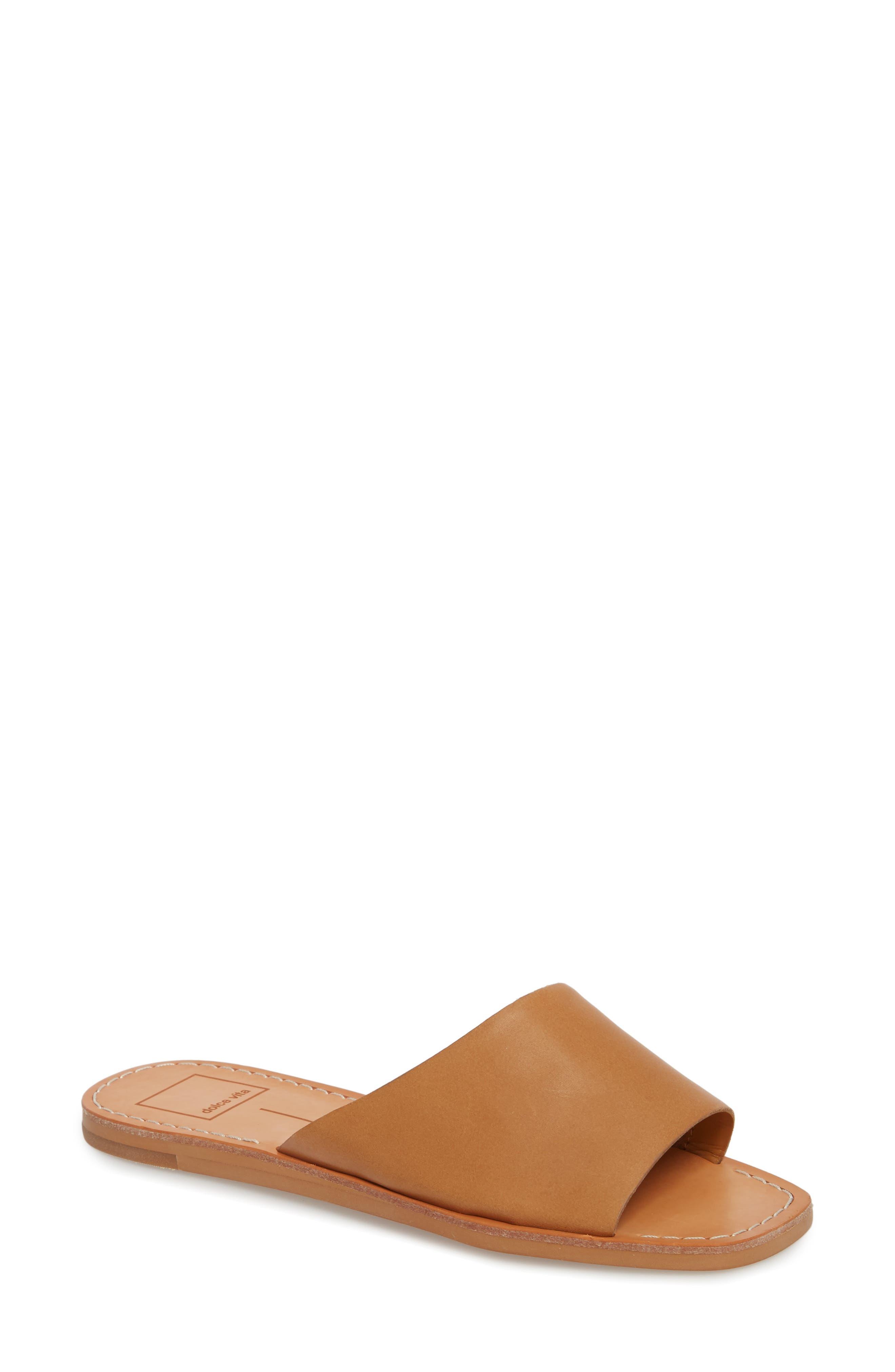 Cato Genuine Calf Hair Slide Sandal,                             Main thumbnail 2, color,