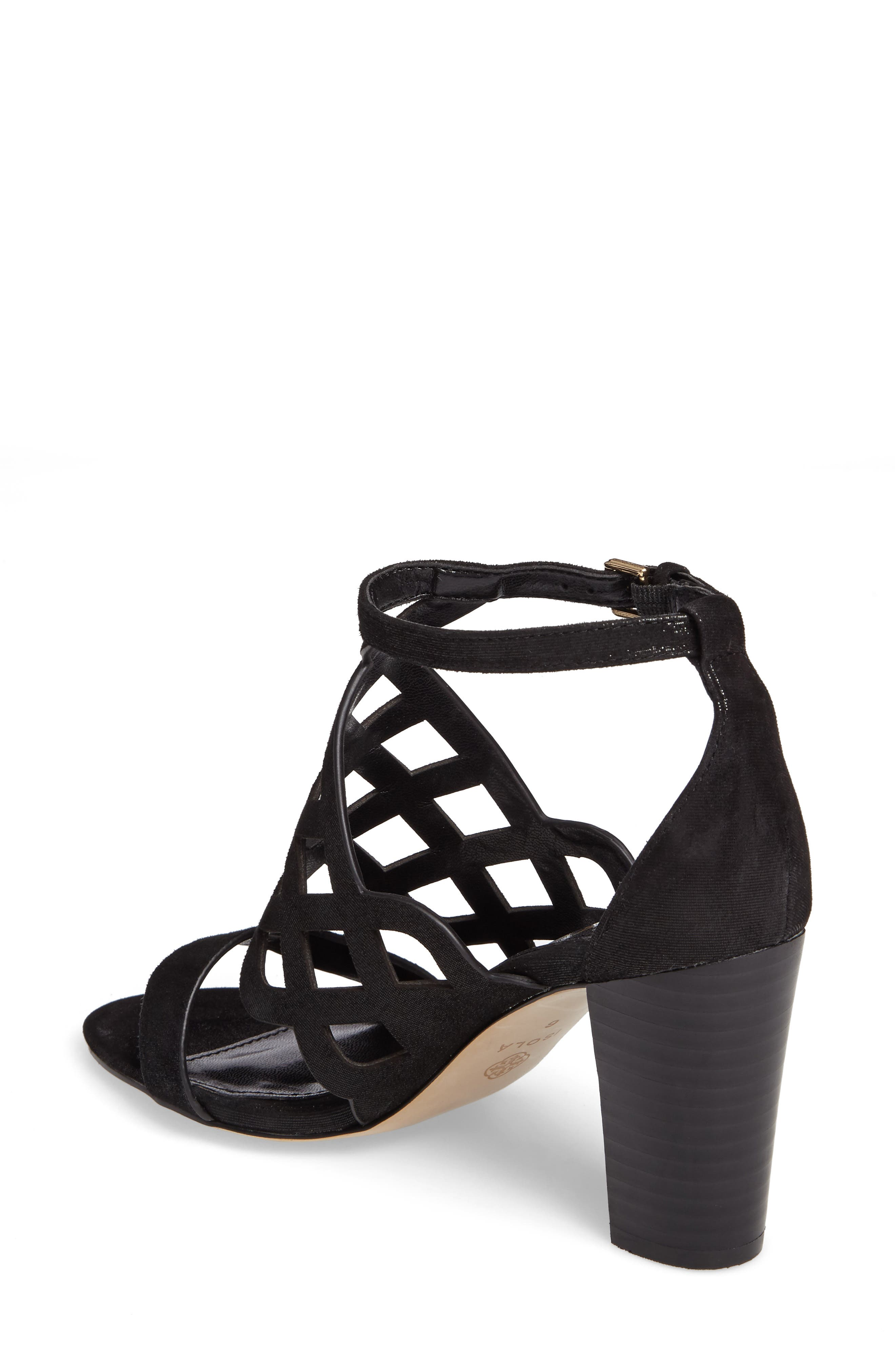 Despina Cutout Ankle Strap Sandal,                             Alternate thumbnail 2, color,                             001