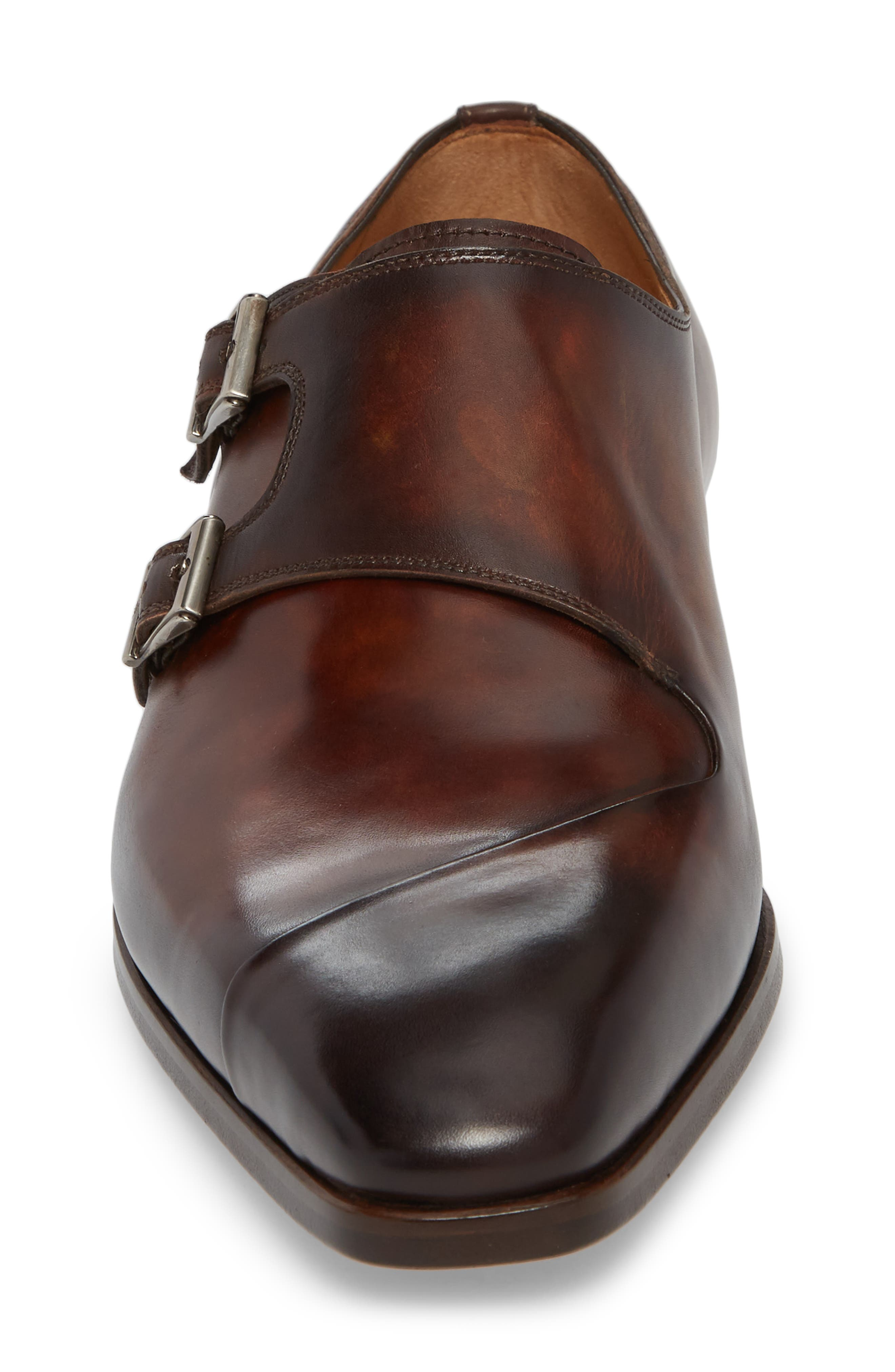 Hafiz Double Strap Monk Shoe,                             Alternate thumbnail 4, color,                             TABACO LEATHER