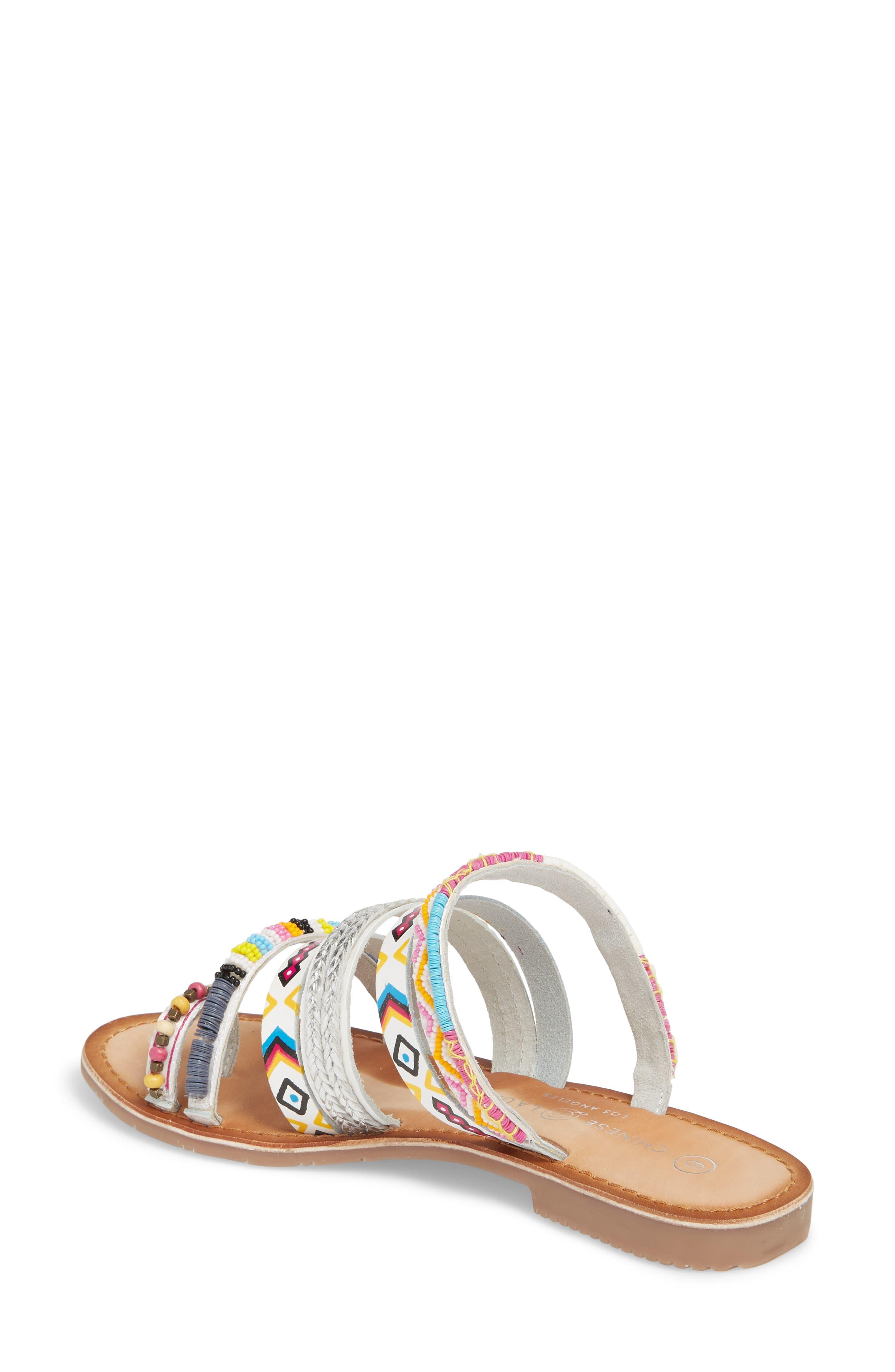 Pandora Embellished Slide Sandal,                             Alternate thumbnail 2, color,                             100