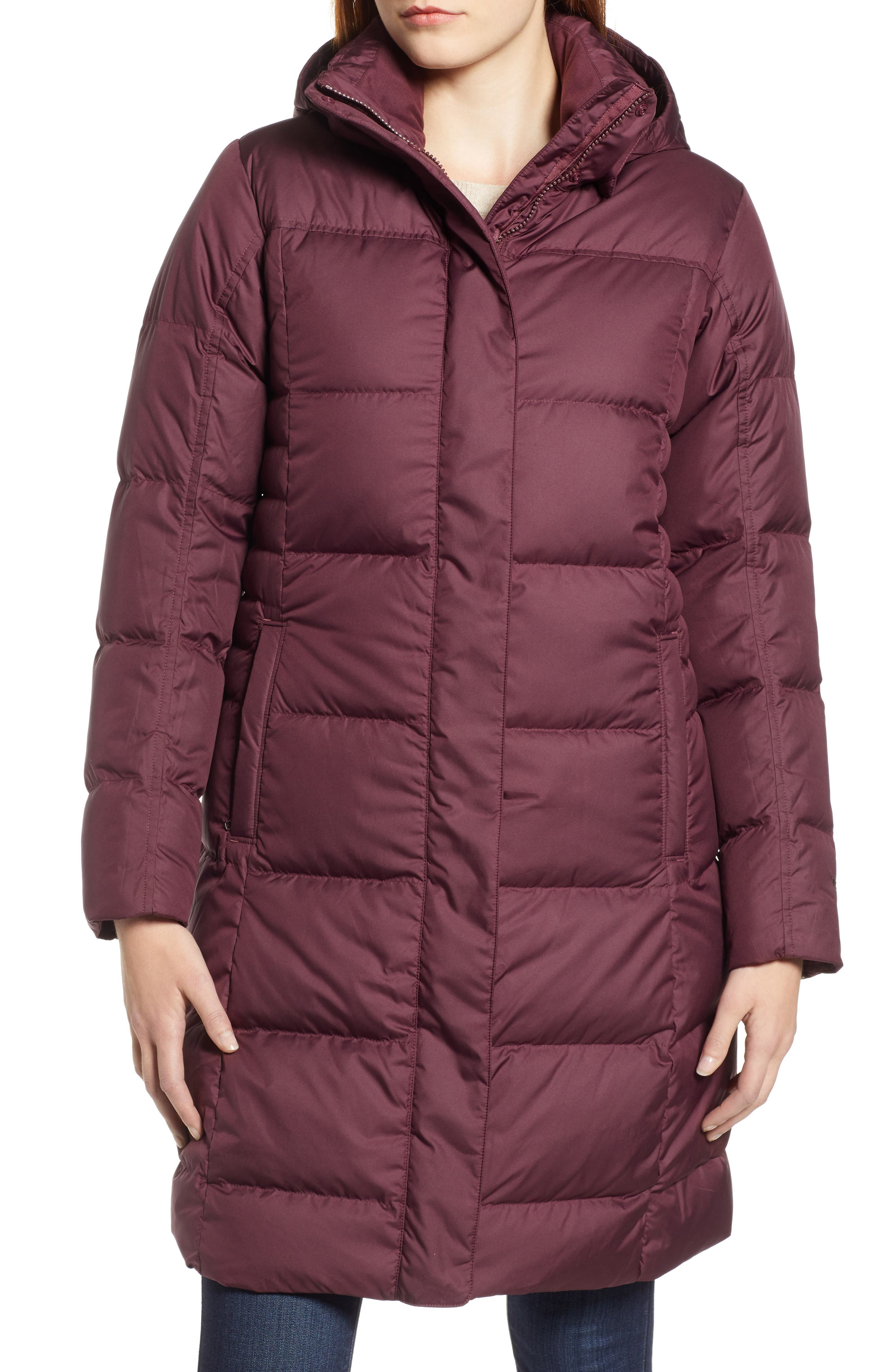'Down with It' Water RepellentParka,                             Alternate thumbnail 4, color,                             DARK CURRANT