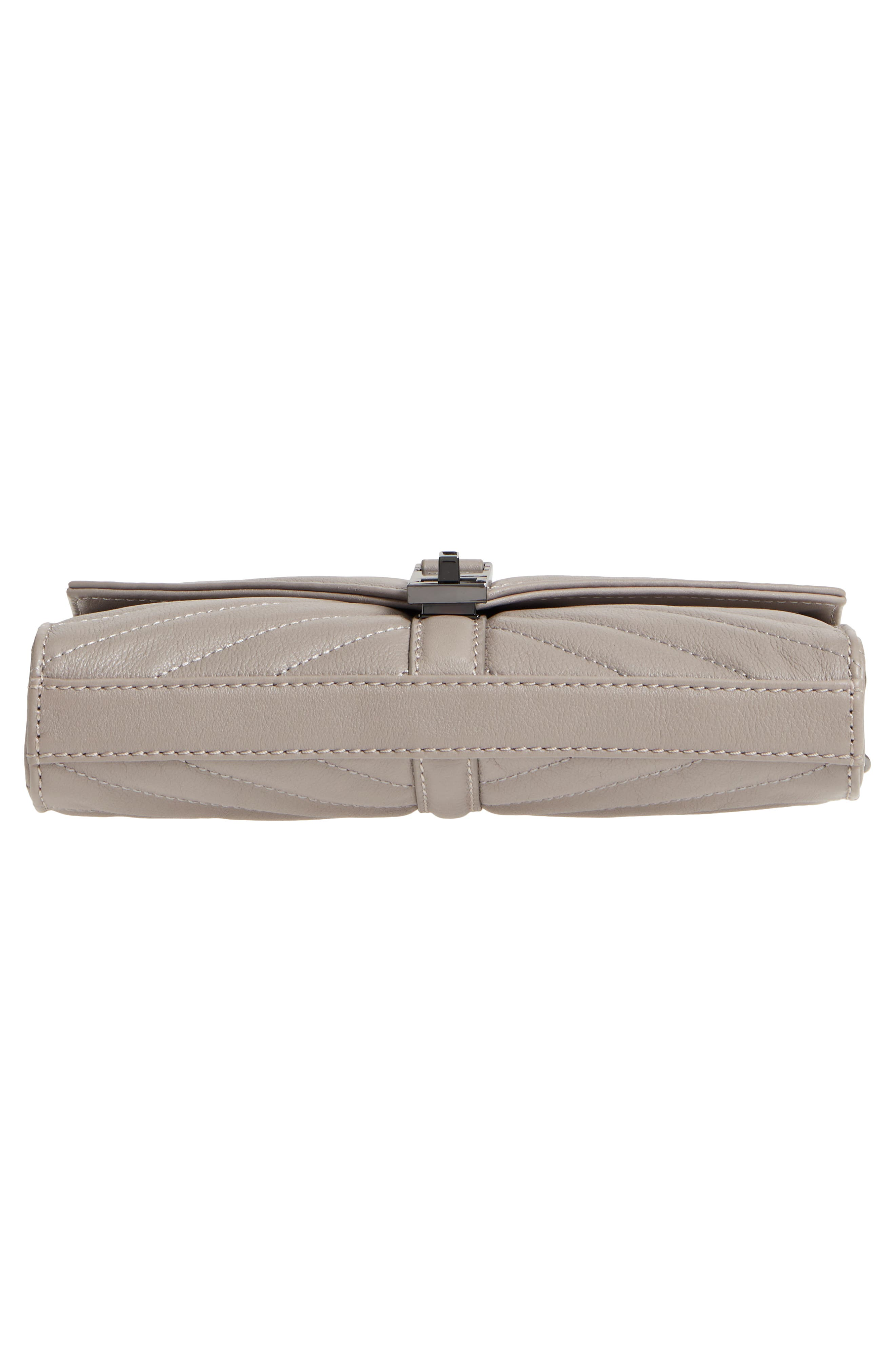 Dakota Quilted Leather Clutch,                             Alternate thumbnail 6, color,                             020