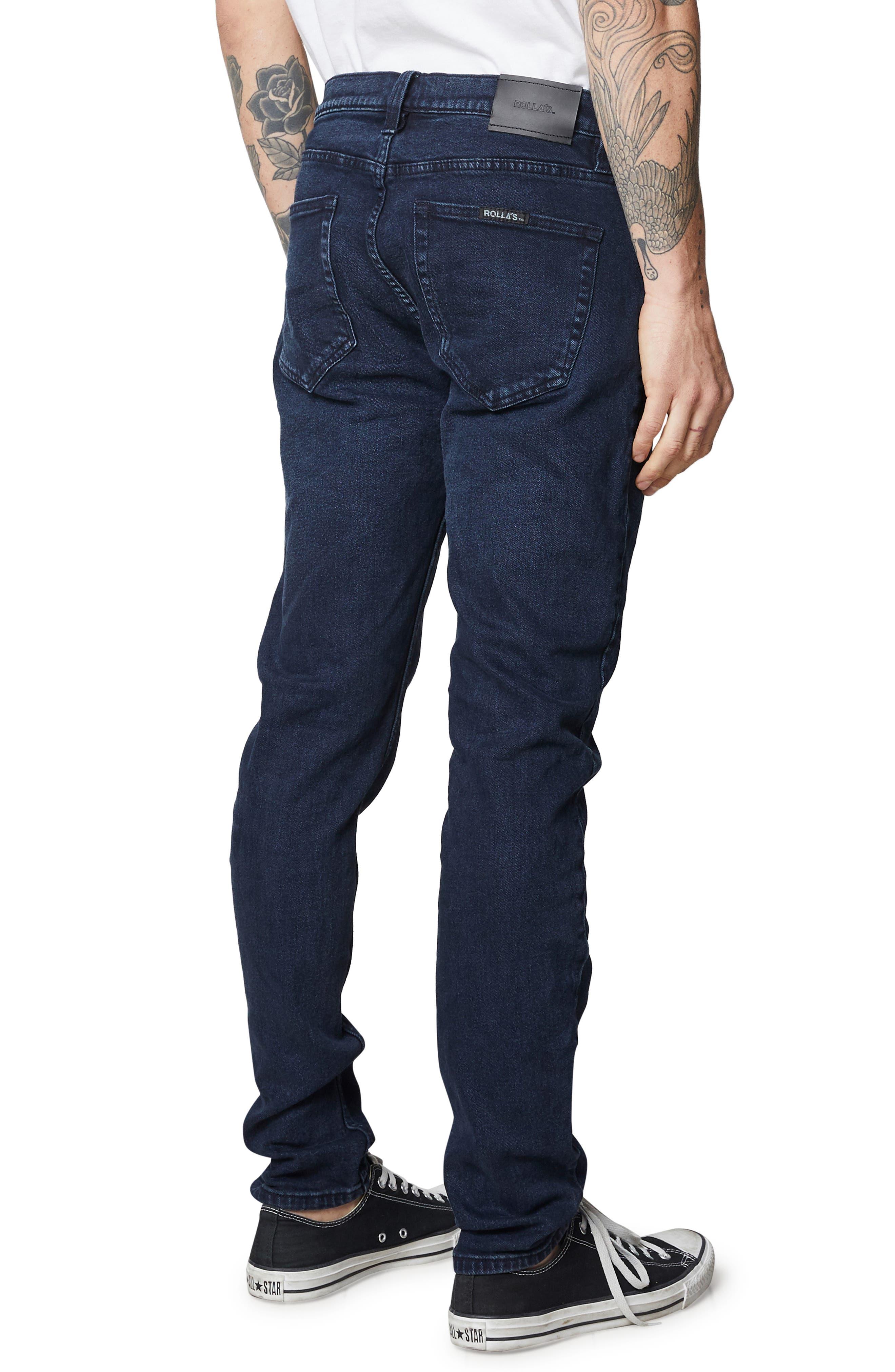 Stinger Skinny Fit Jeans,                             Alternate thumbnail 4, color,                             STONE FREE BLACK