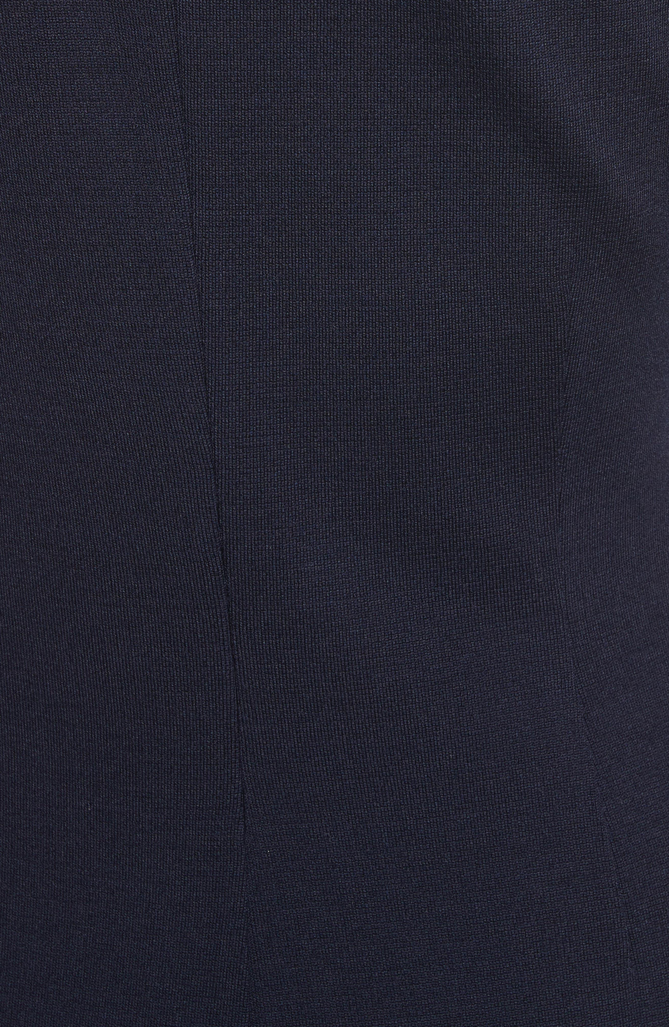 Milano Knit A-Line Dress,                             Alternate thumbnail 5, color,                             410
