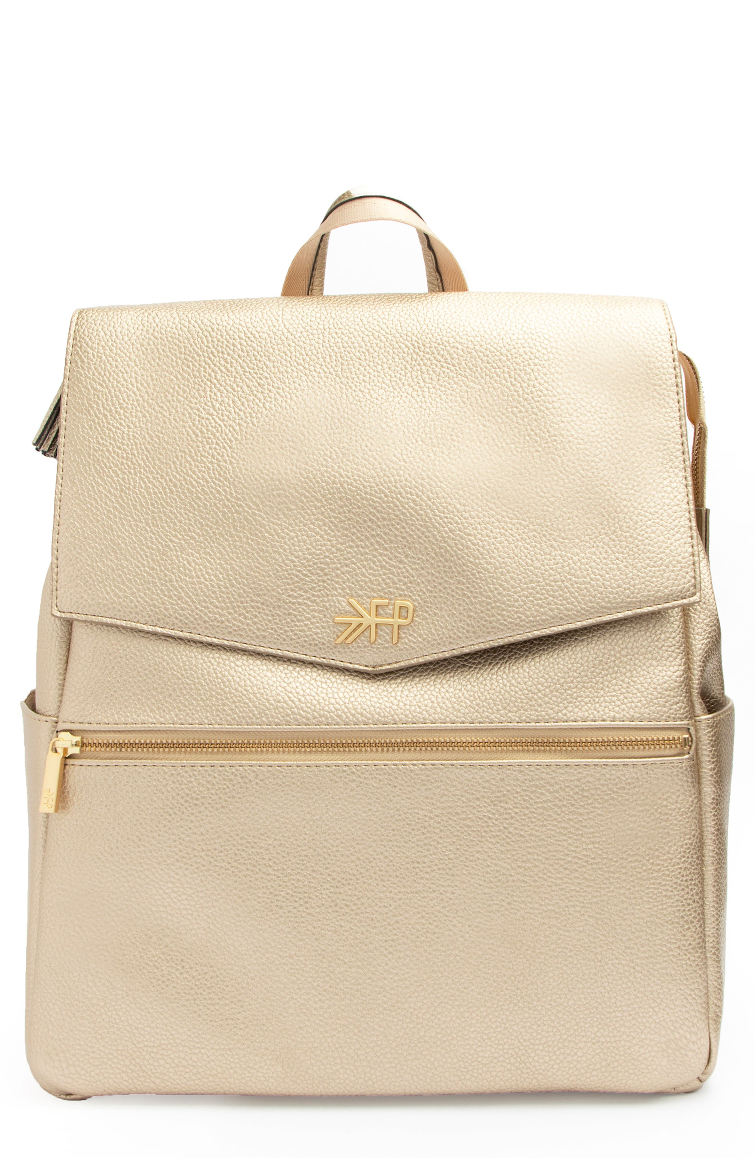 FRESHLY PICKED Convertible Diaper Backpack, Main, color, PLATINUM METALLIC