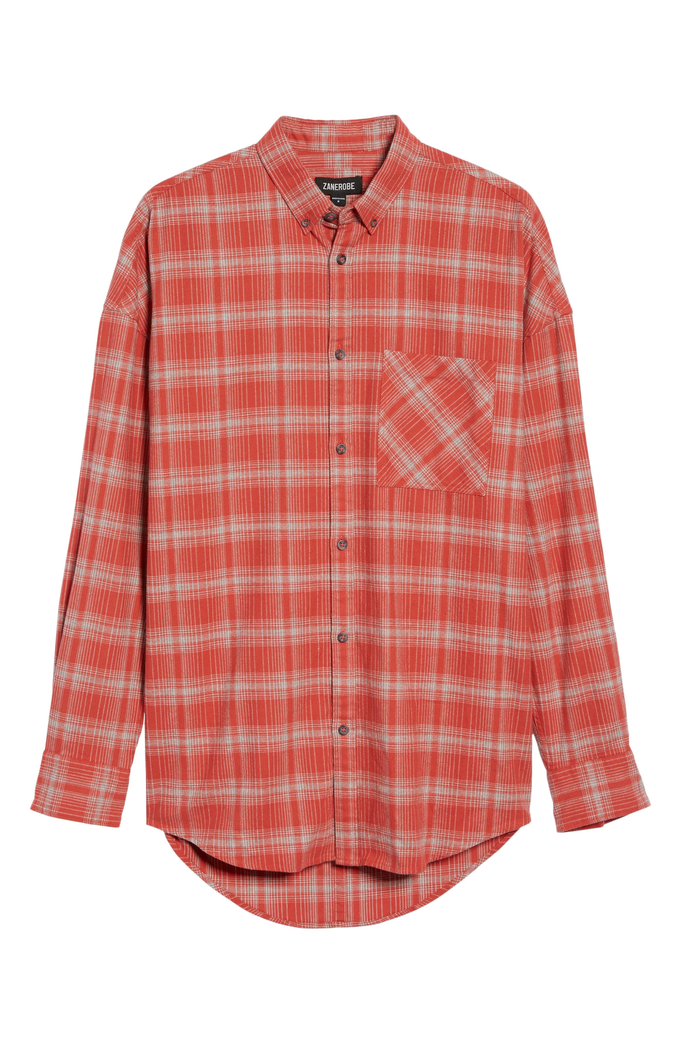 Rugger Plaid Sport Shirt,                             Alternate thumbnail 4, color,                             641