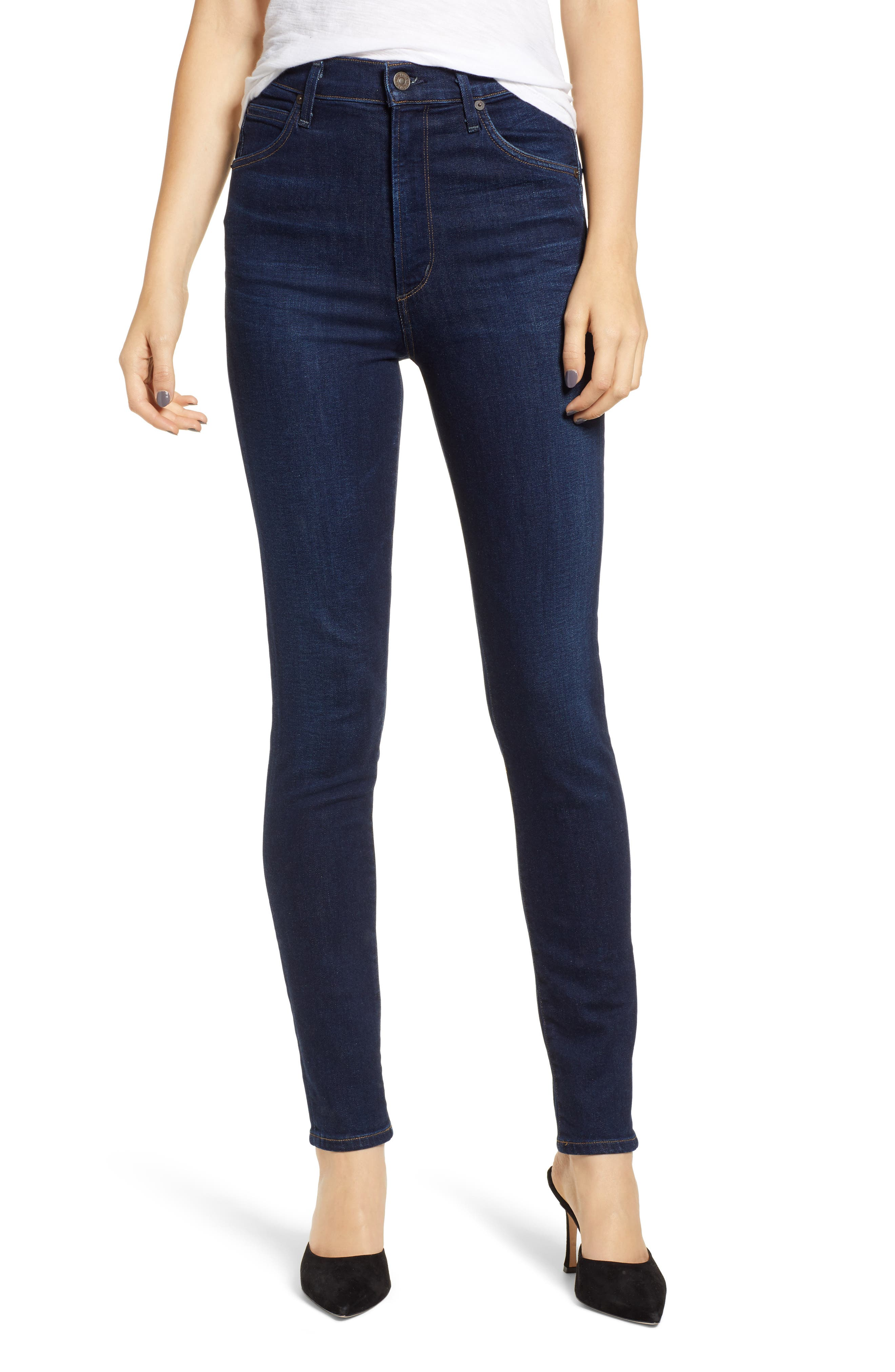 Chrissy High Waist Skinny Jeans, Main, color, GALAXY