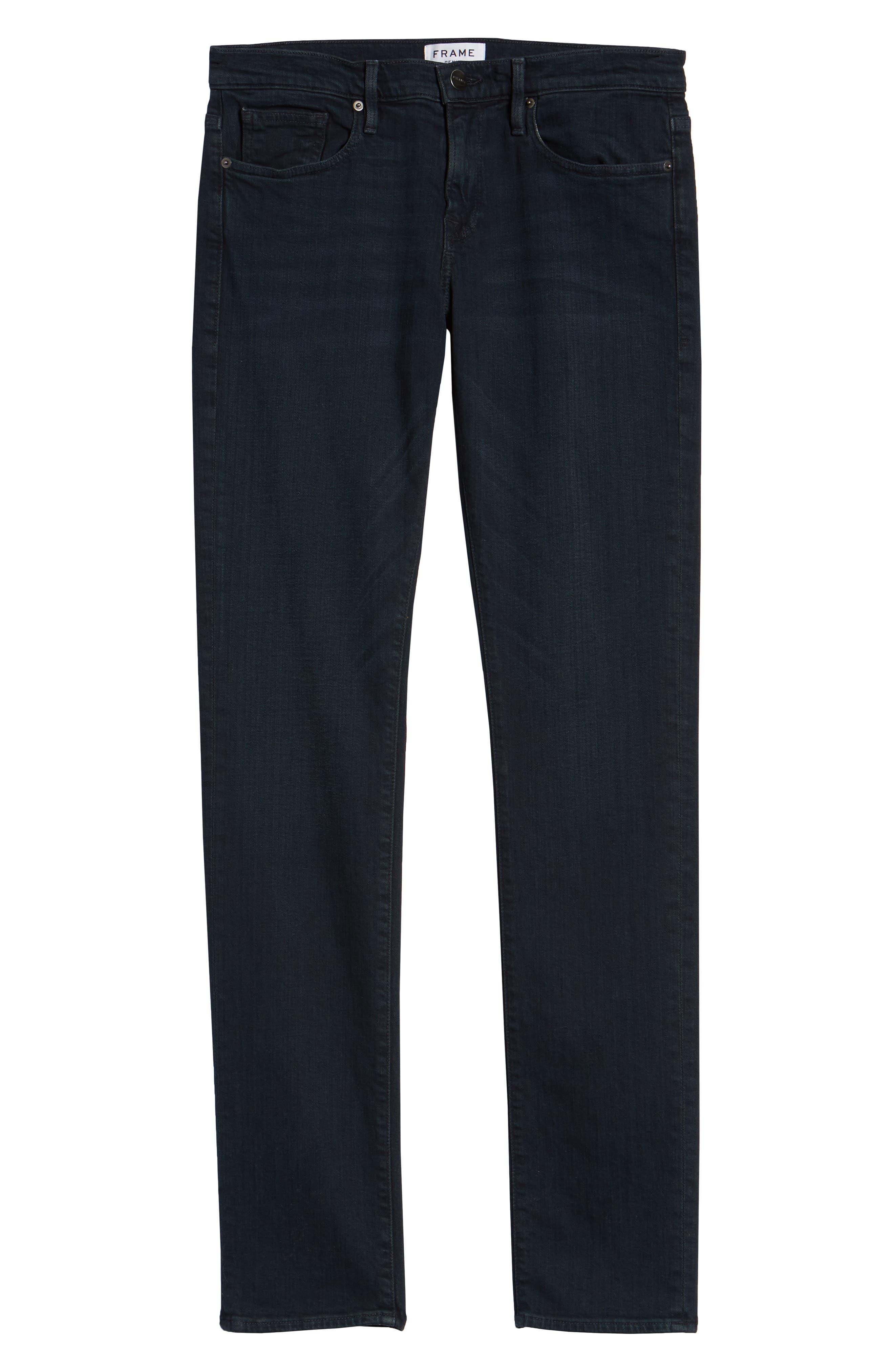 'L'Homme' Slim Fit Jeans,                             Alternate thumbnail 4, color,                             PLACID