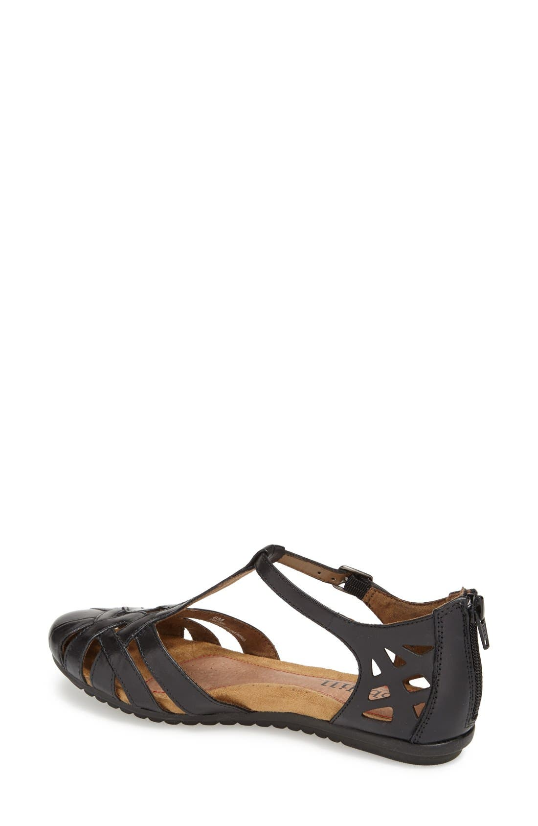 'Ireland' Leather Sandal,                             Alternate thumbnail 3, color,                             BLACK