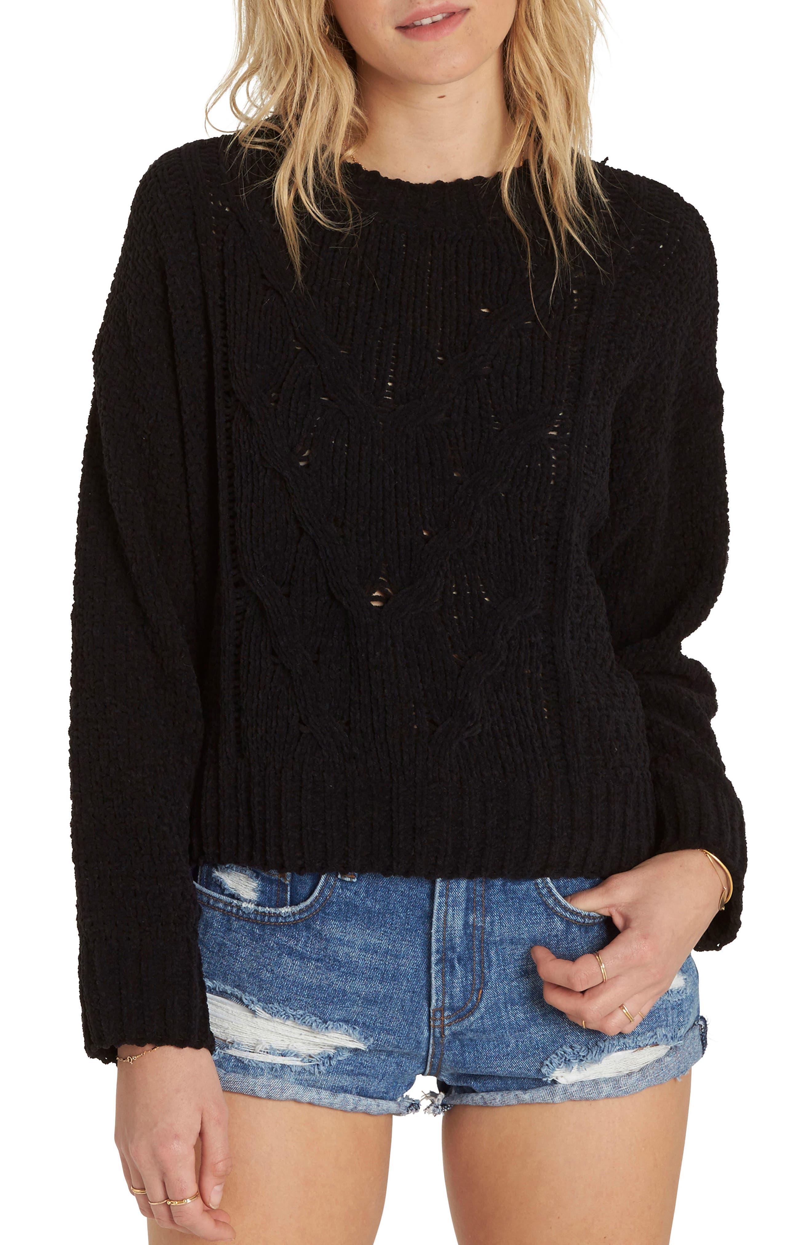 All Mine Chenille Sweater,                         Main,                         color, 001