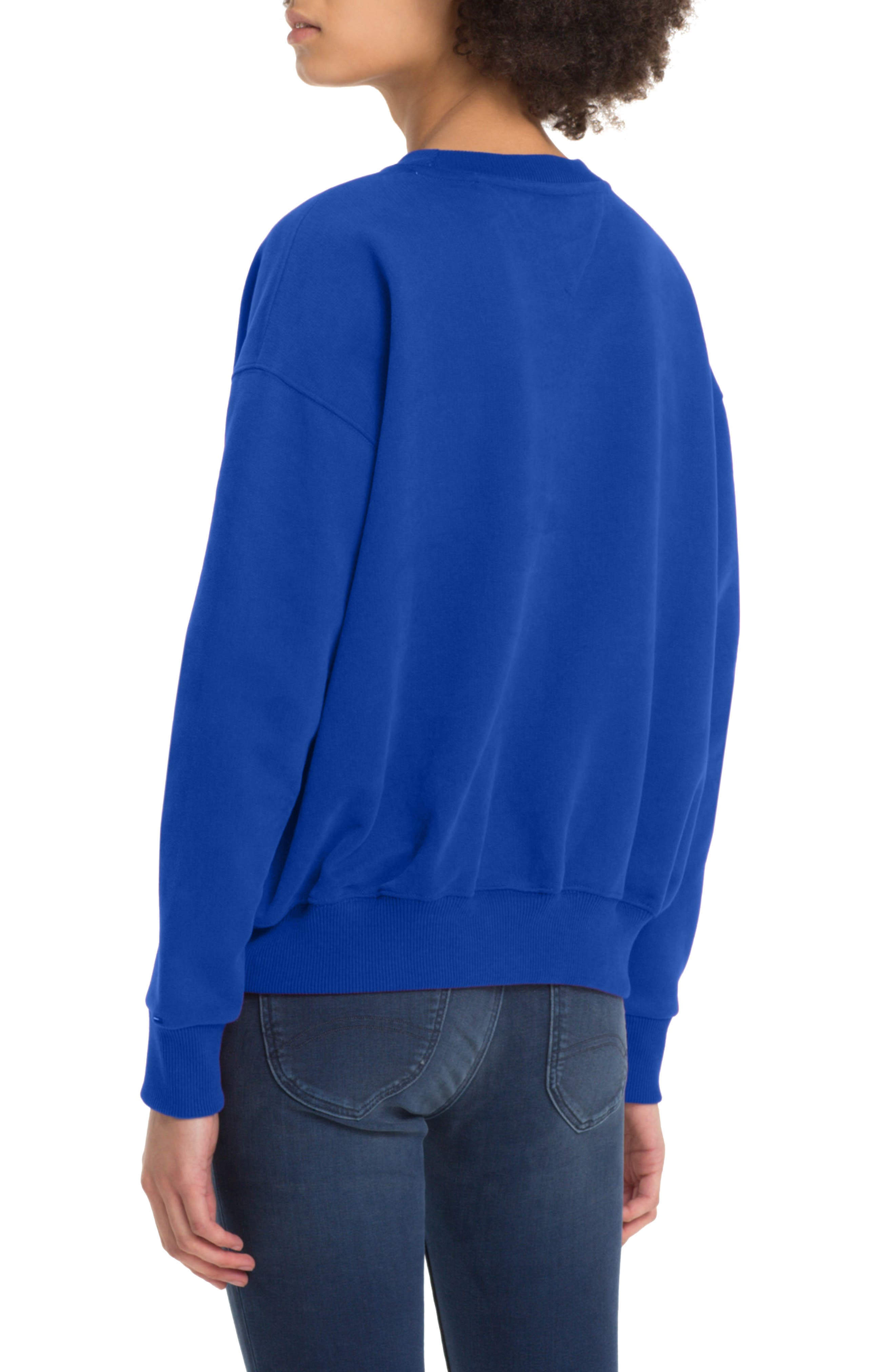 TOMMY JEANS,                             TJW Embroidered Logo Sweatshirt,                             Alternate thumbnail 2, color,                             419