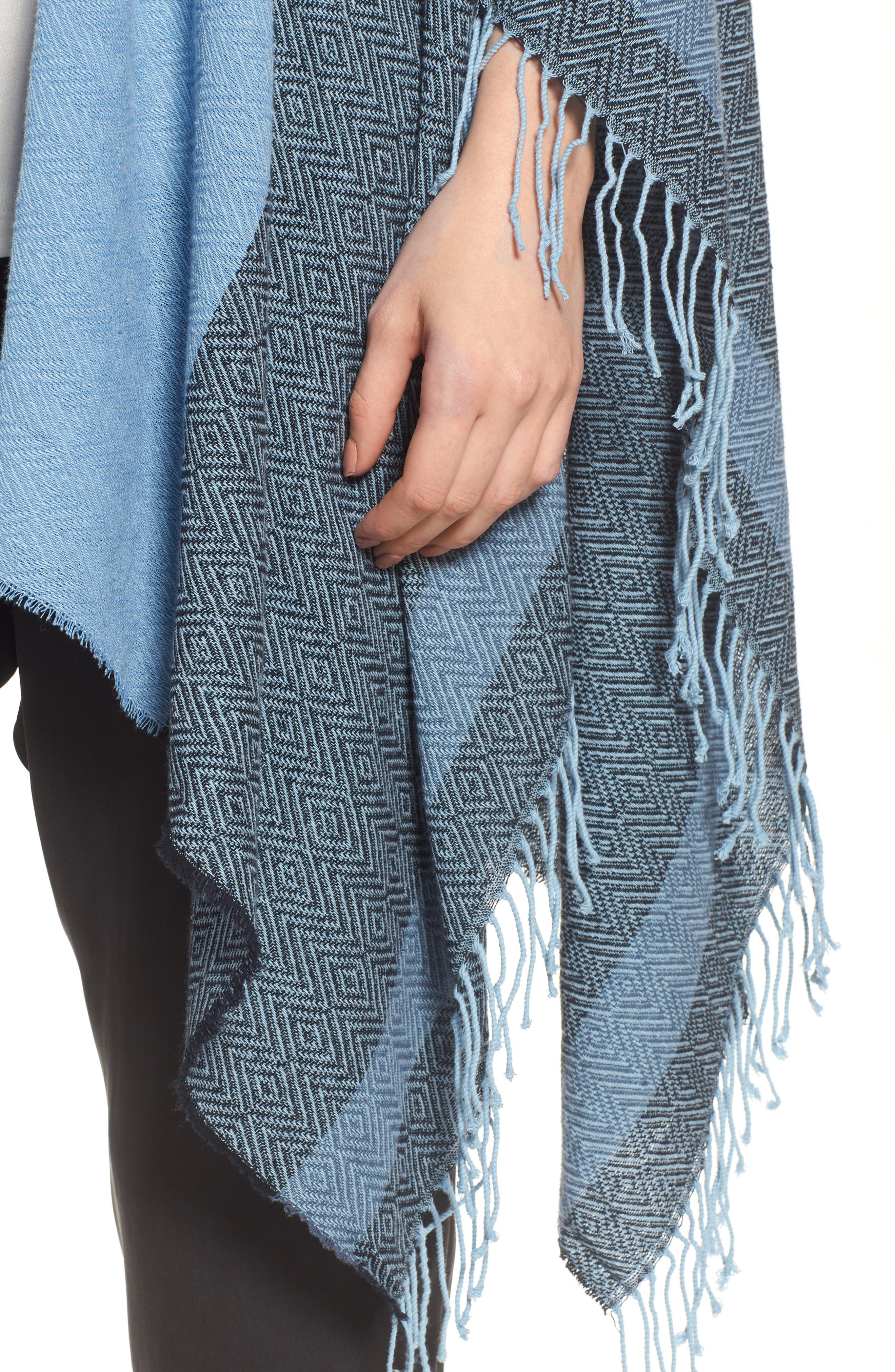 Recycled Cotton Poncho Wrap,                             Alternate thumbnail 4, color,