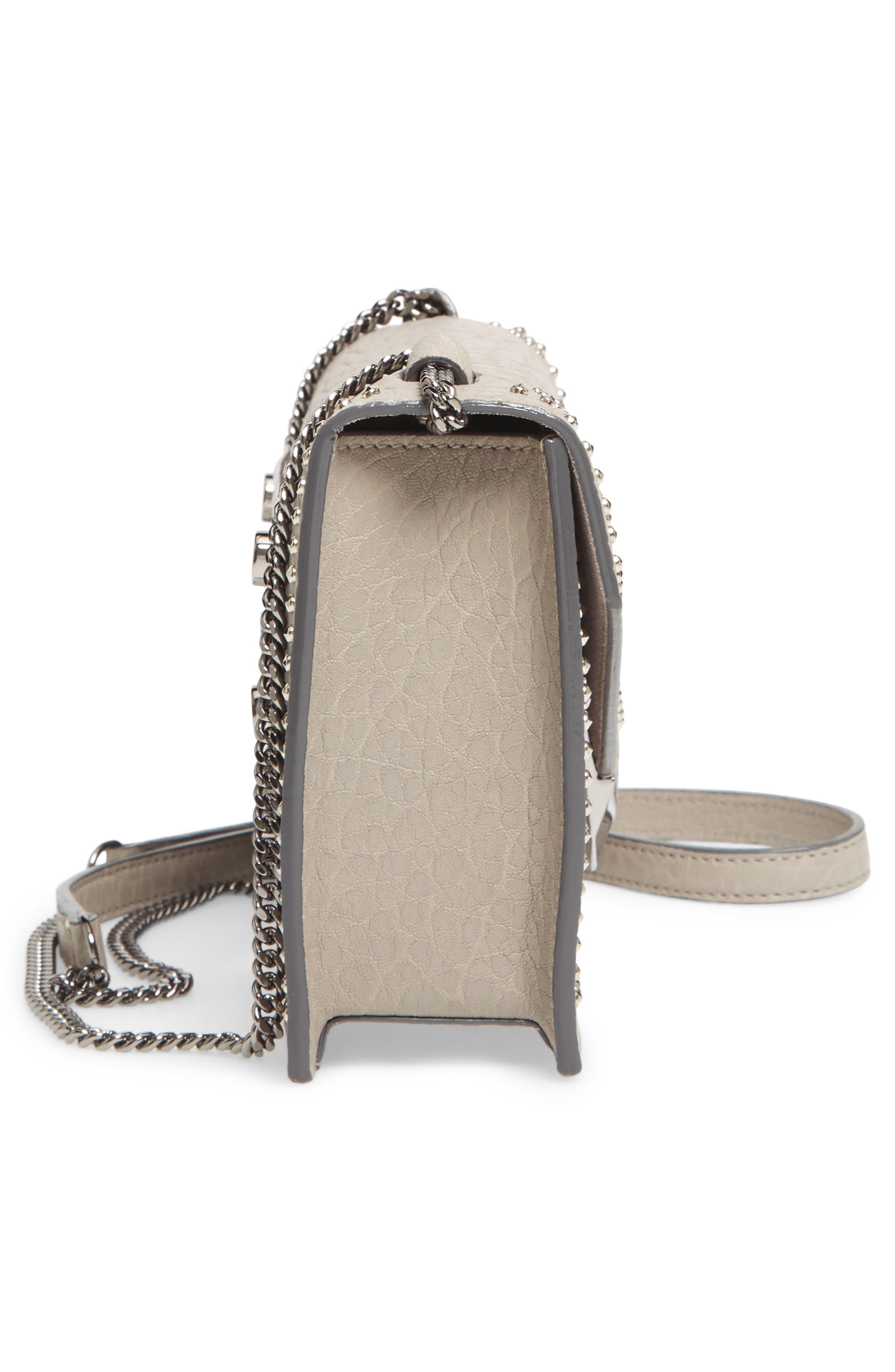 Leila Grainy Lambskin Leather Crossbody Bag,                             Alternate thumbnail 5, color,                             040