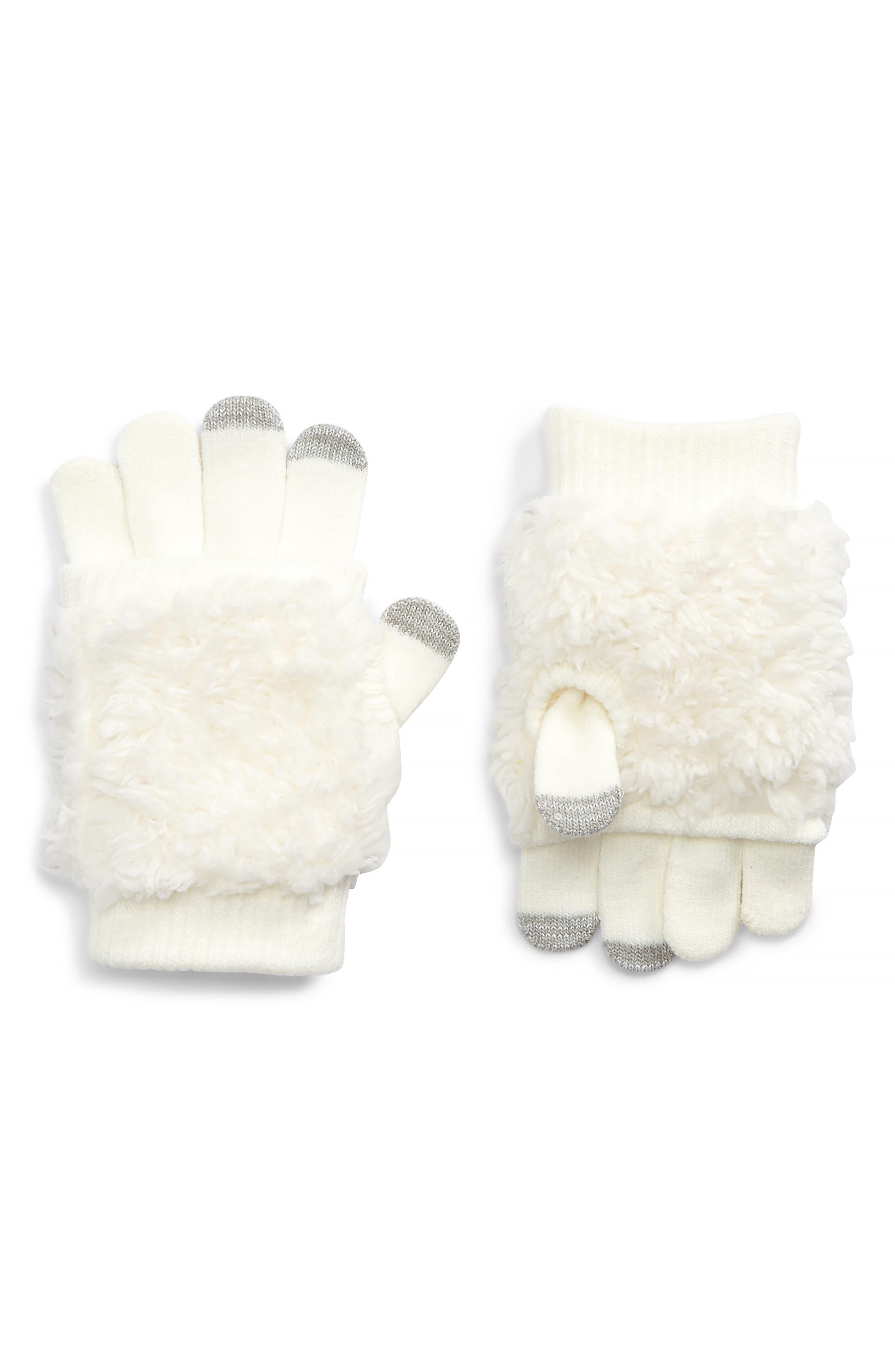 Bunny Convertible Gloves,                         Main,                         color, 901