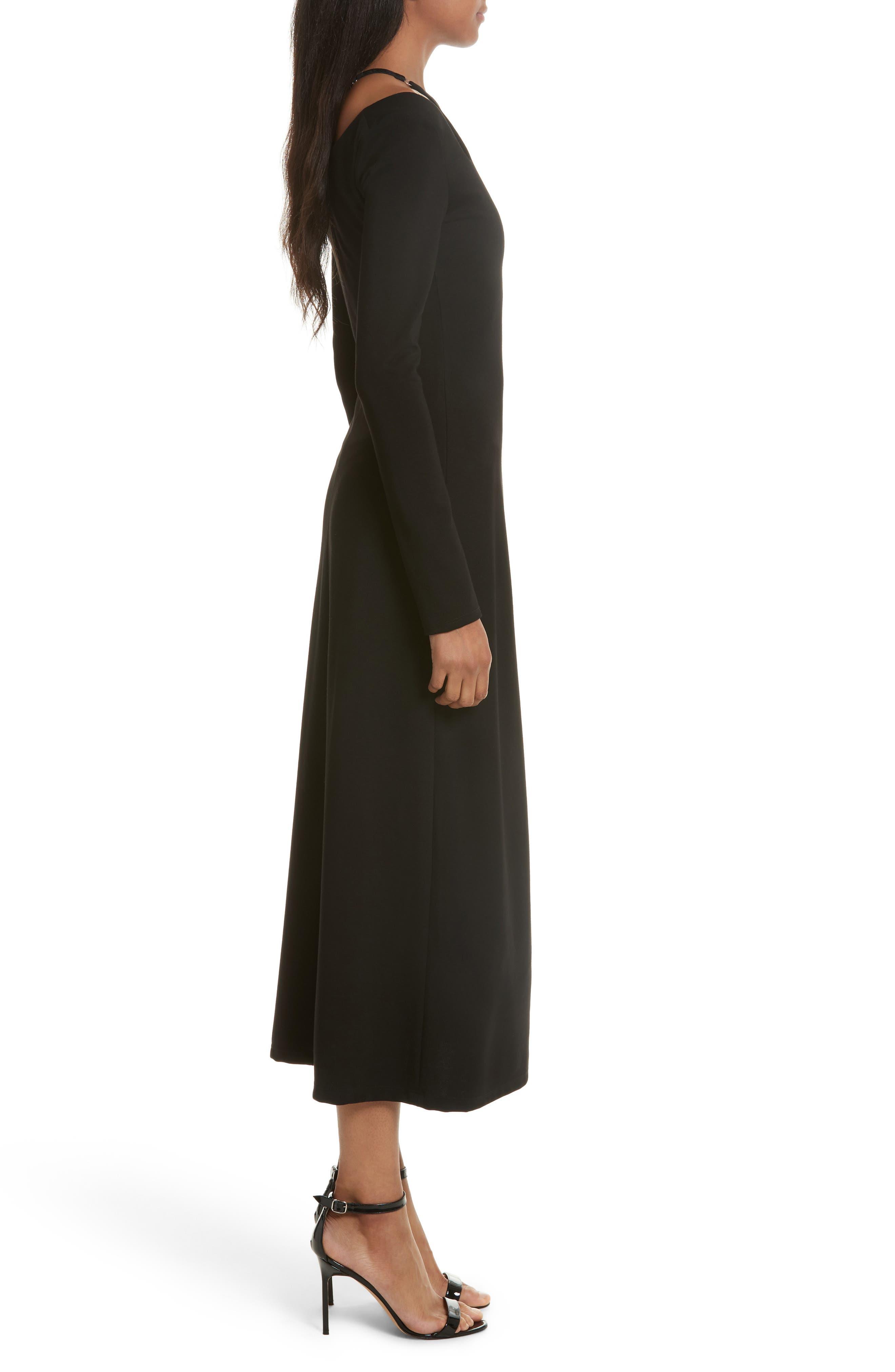 Jessa Cutout Midi Dress,                             Alternate thumbnail 3, color,                             001