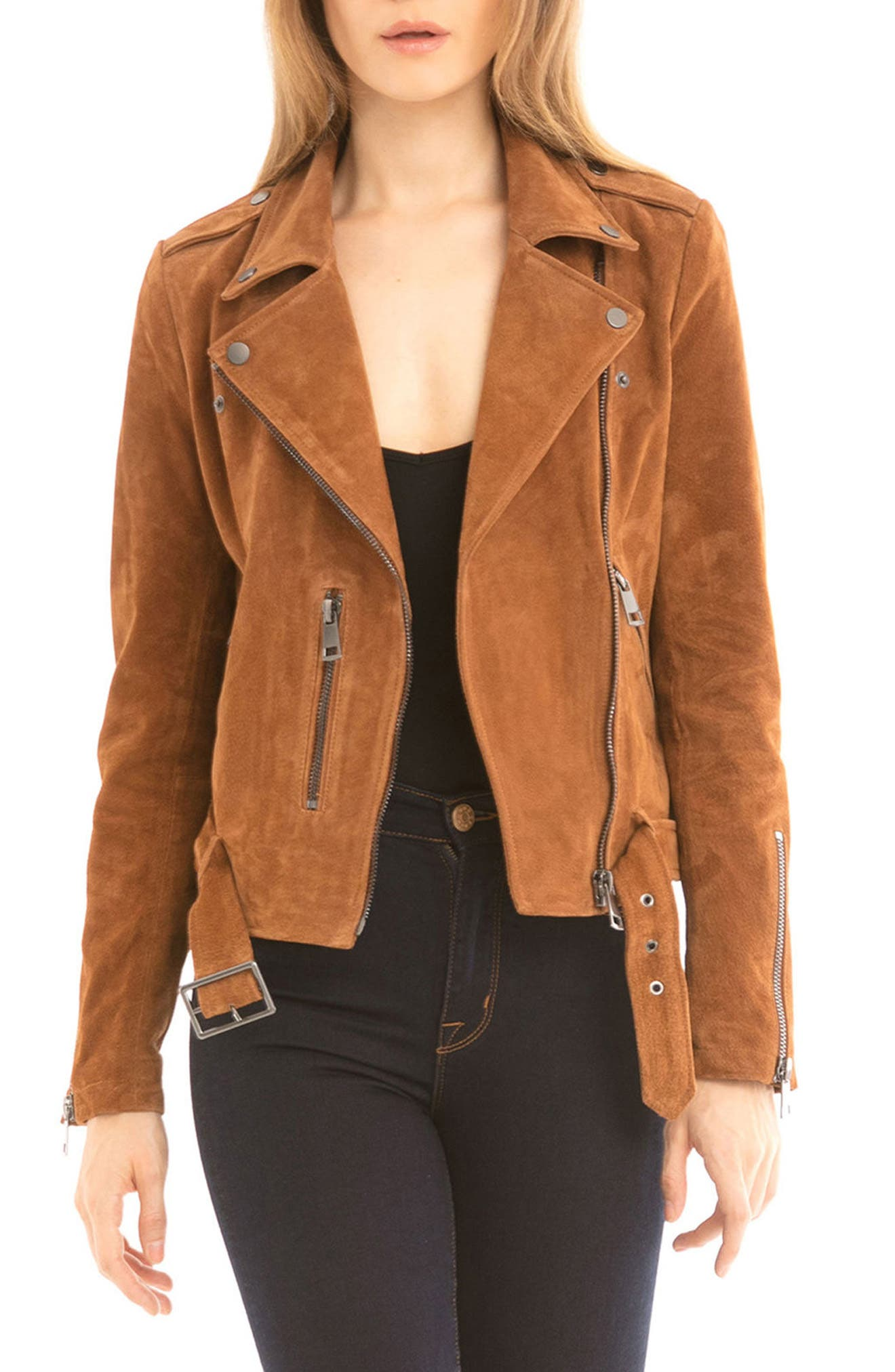 NYC  Suede Jacket,                             Main thumbnail 1, color,