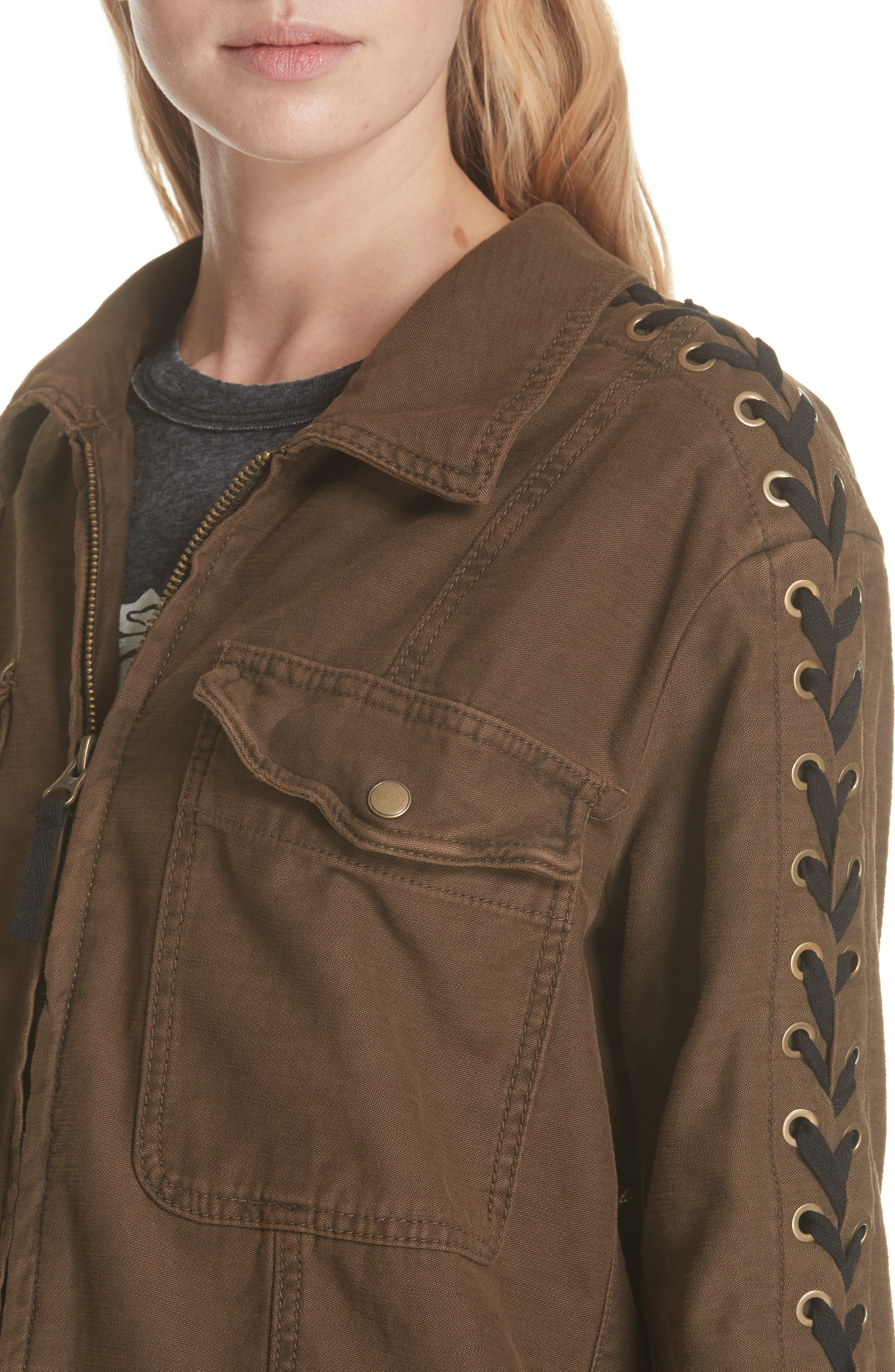 Faye Military Jacket,                             Alternate thumbnail 8, color,