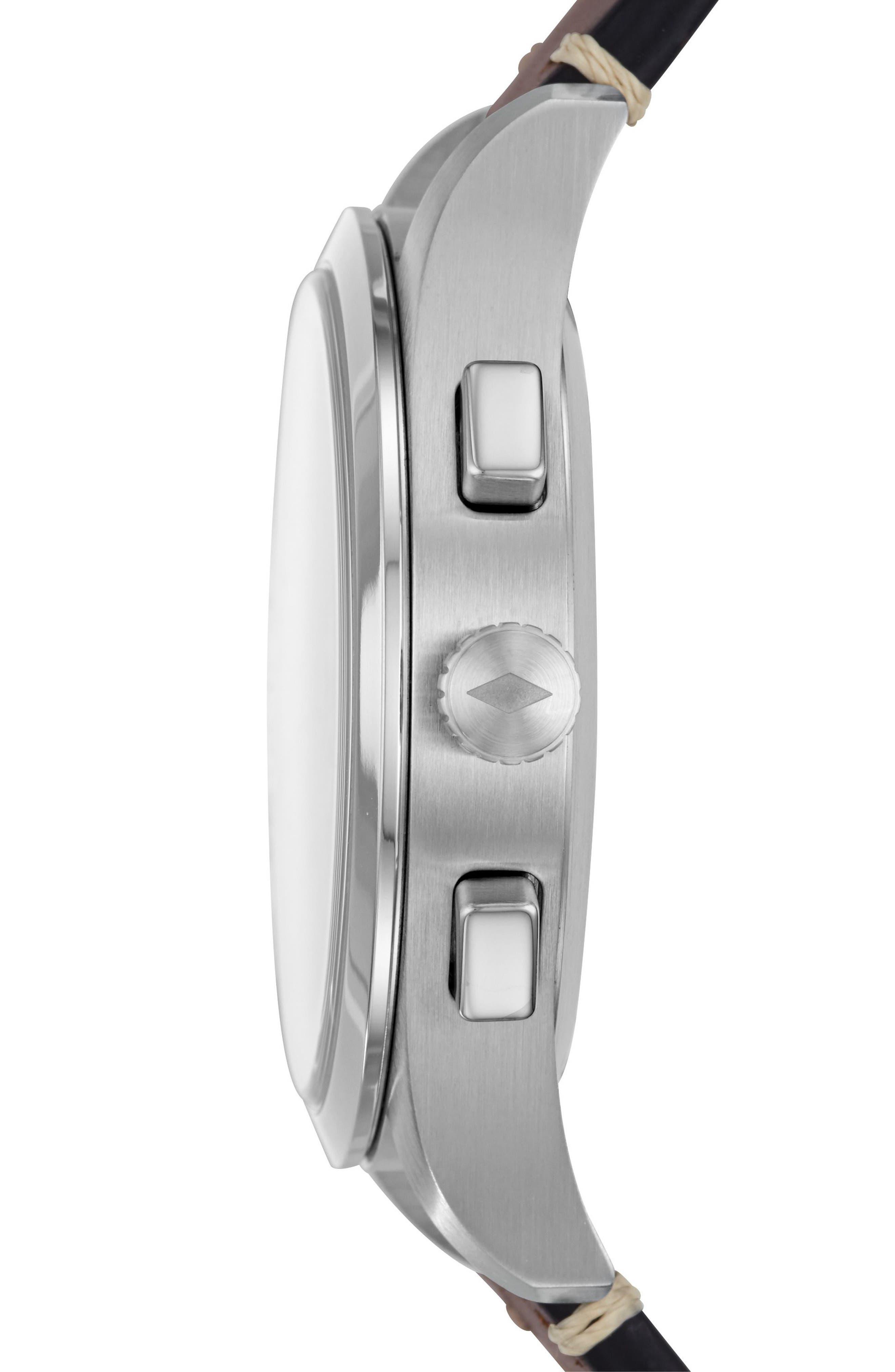 Q Activist Hybrid Leather Strap Watch, 42mm,                             Alternate thumbnail 4, color,
