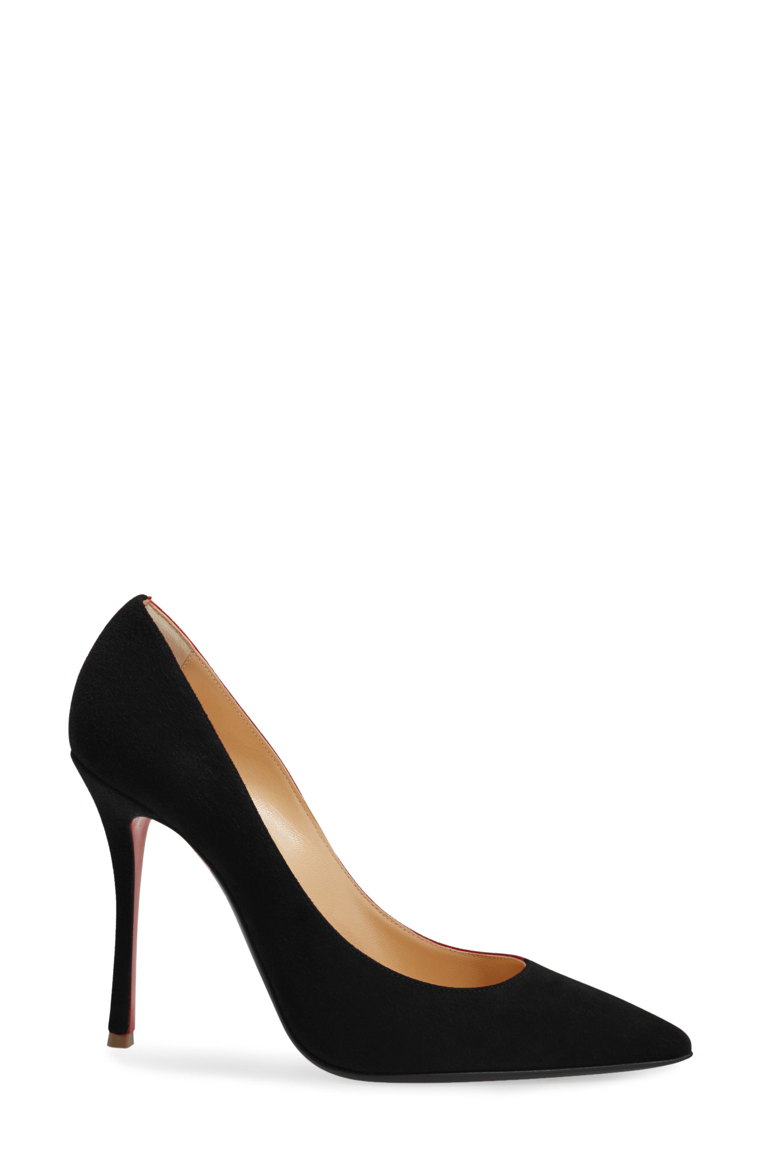 Decoltish Pointy Toe Pump,                             Alternate thumbnail 3, color,                             001