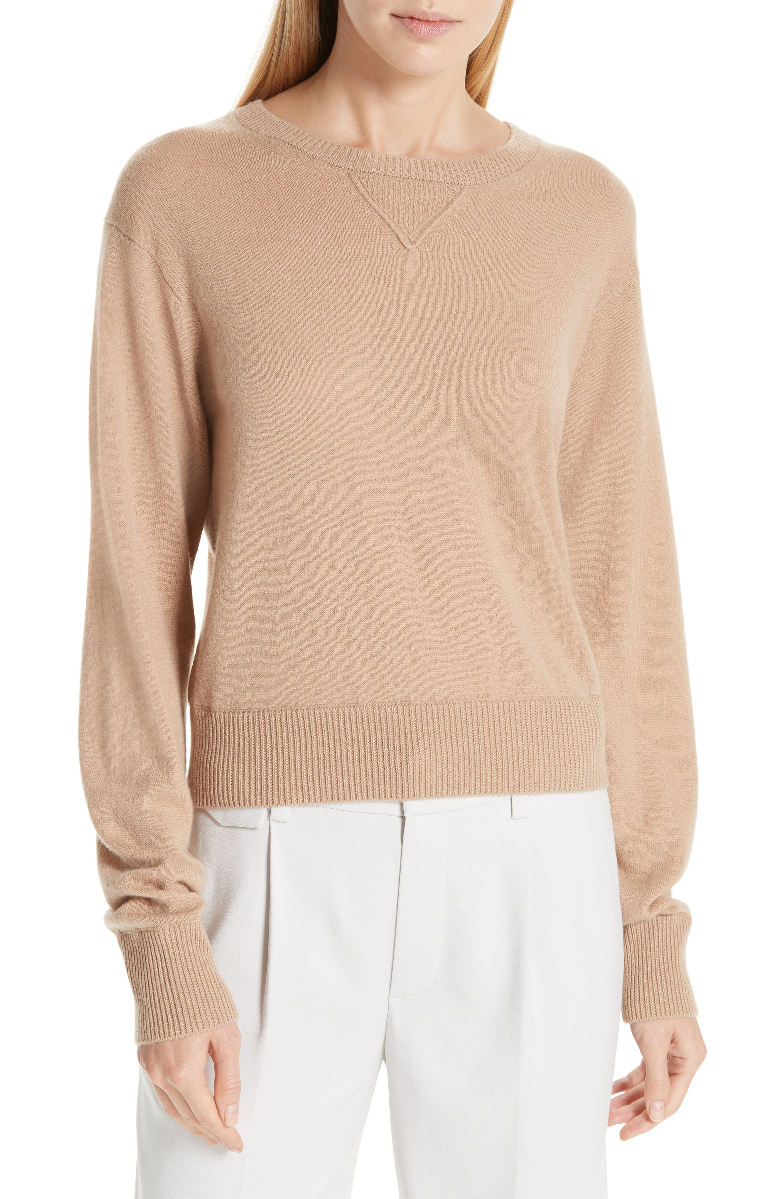 Vince Wool & Cashmere Sweater, Brown