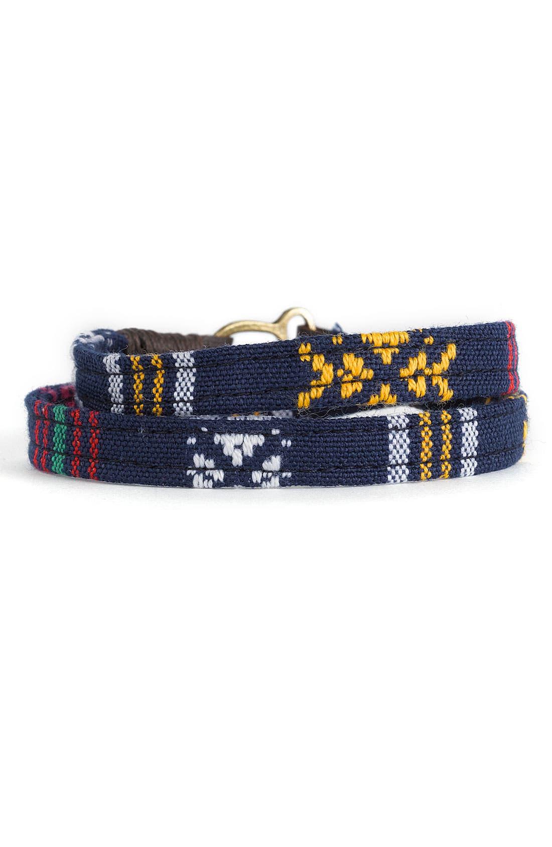 'Tribal' Wrap Bracelet, Main, color, 400