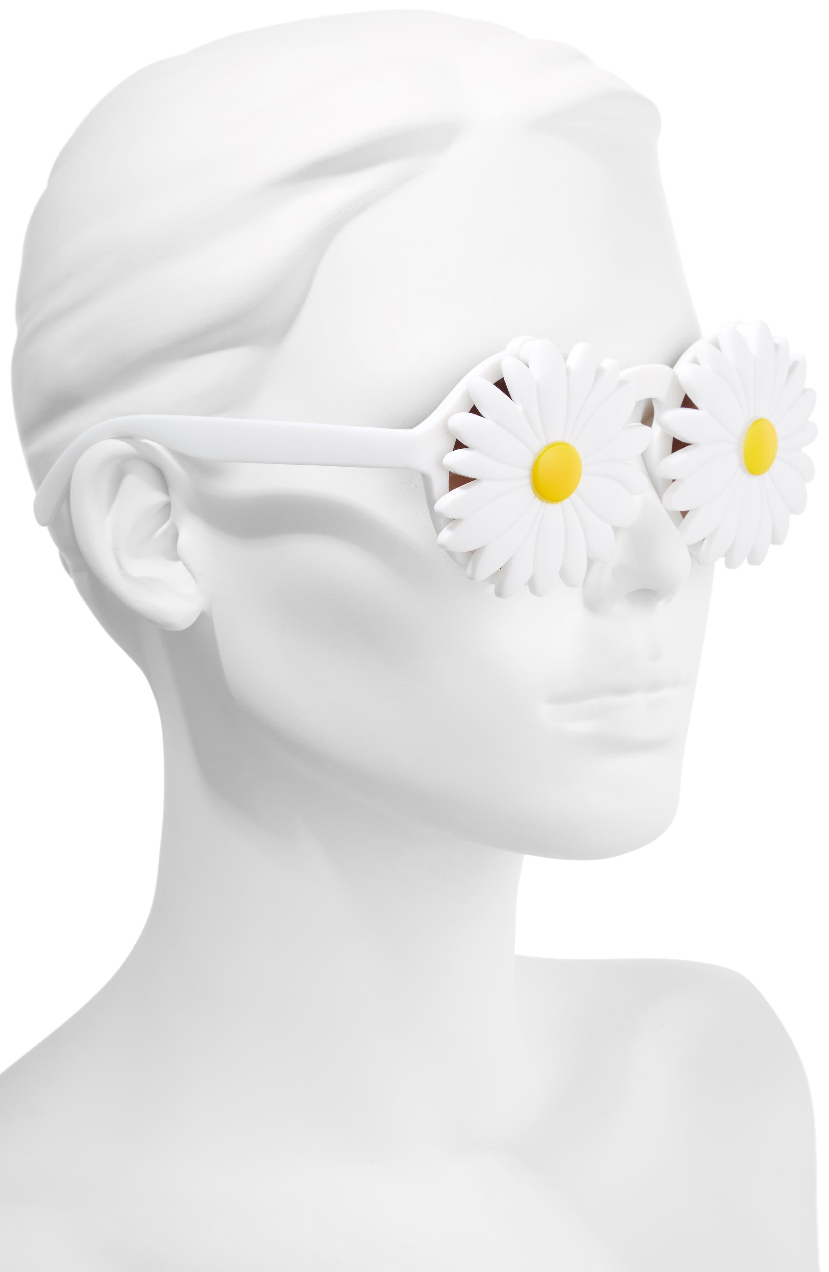 Daisy 45mm Round Sunglasses,                             Alternate thumbnail 2, color,                             100