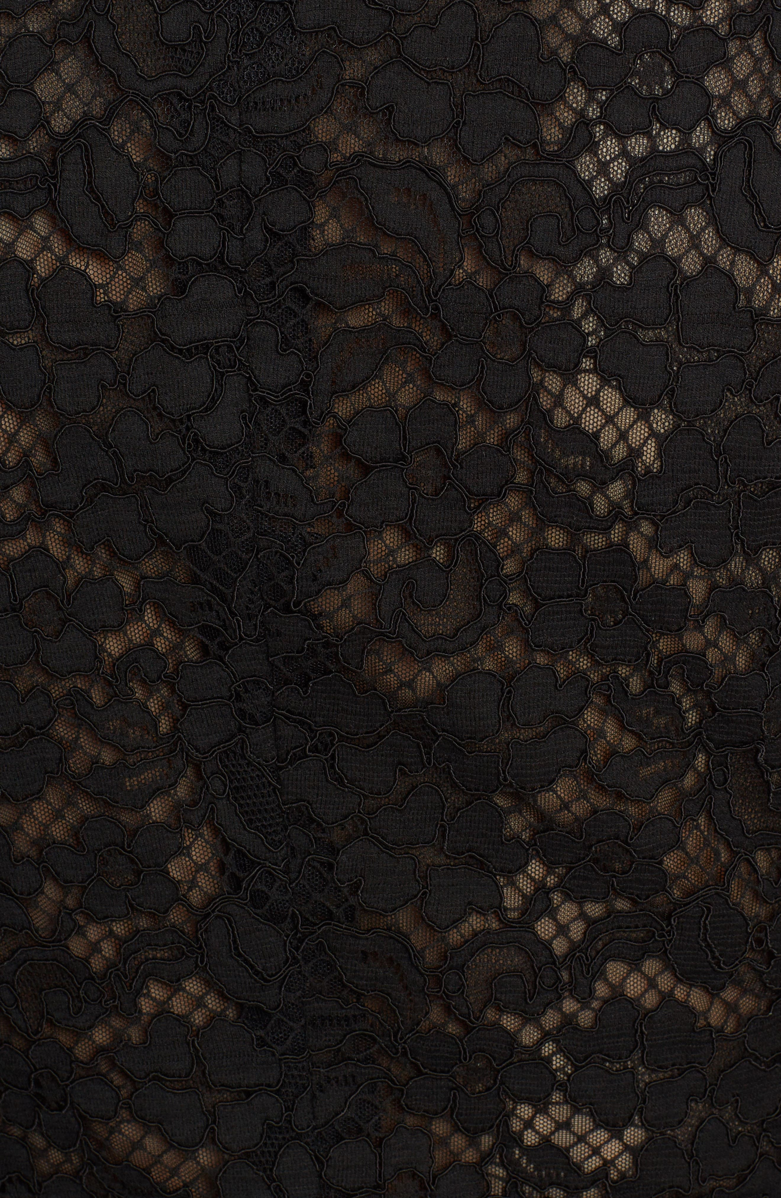 Heart Patch Lace Blazer,                             Alternate thumbnail 5, color,                             001