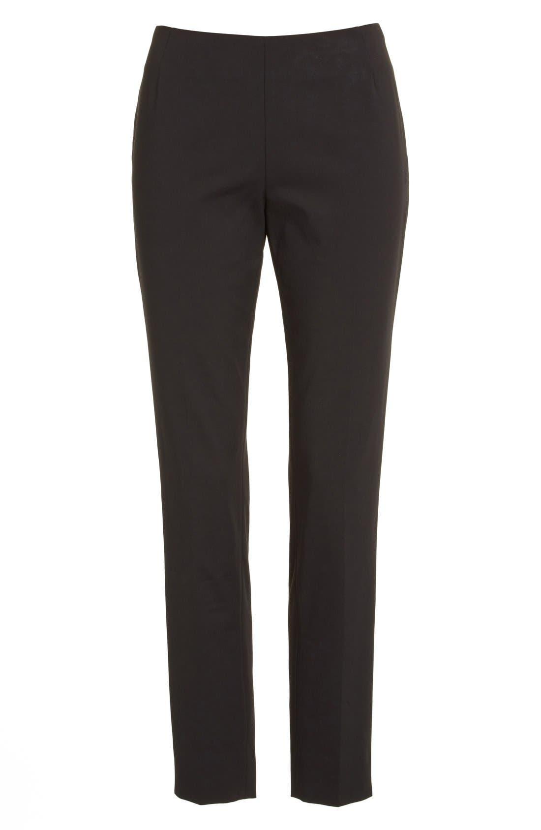 'Stanton' Slim Leg Ankle Pants,                             Alternate thumbnail 8, color,                             BLACK