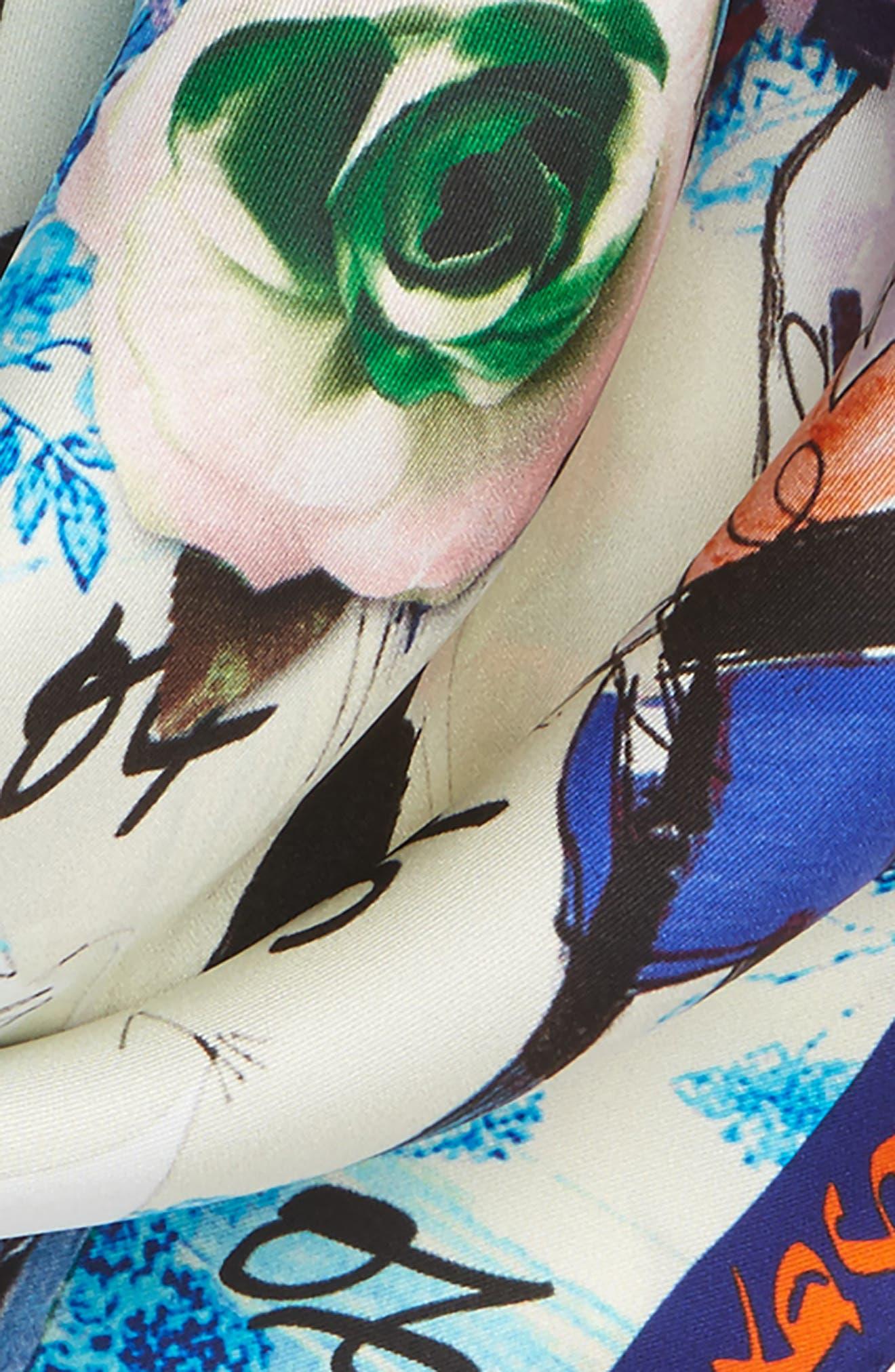 Les Filles en Fleur Square Silk Scarf,                             Alternate thumbnail 11, color,