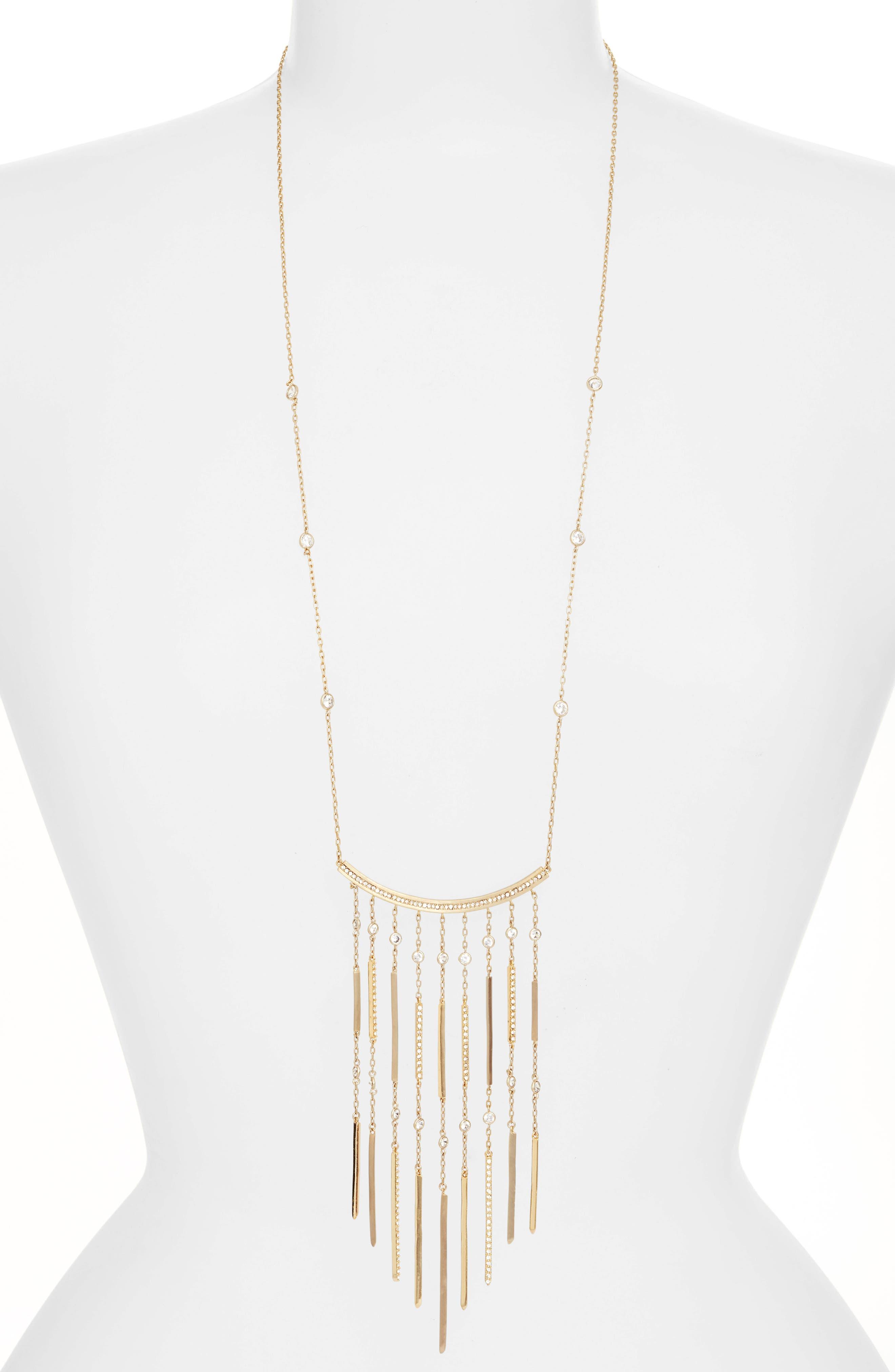 Fringe Pendant Necklace,                         Main,                         color, 710