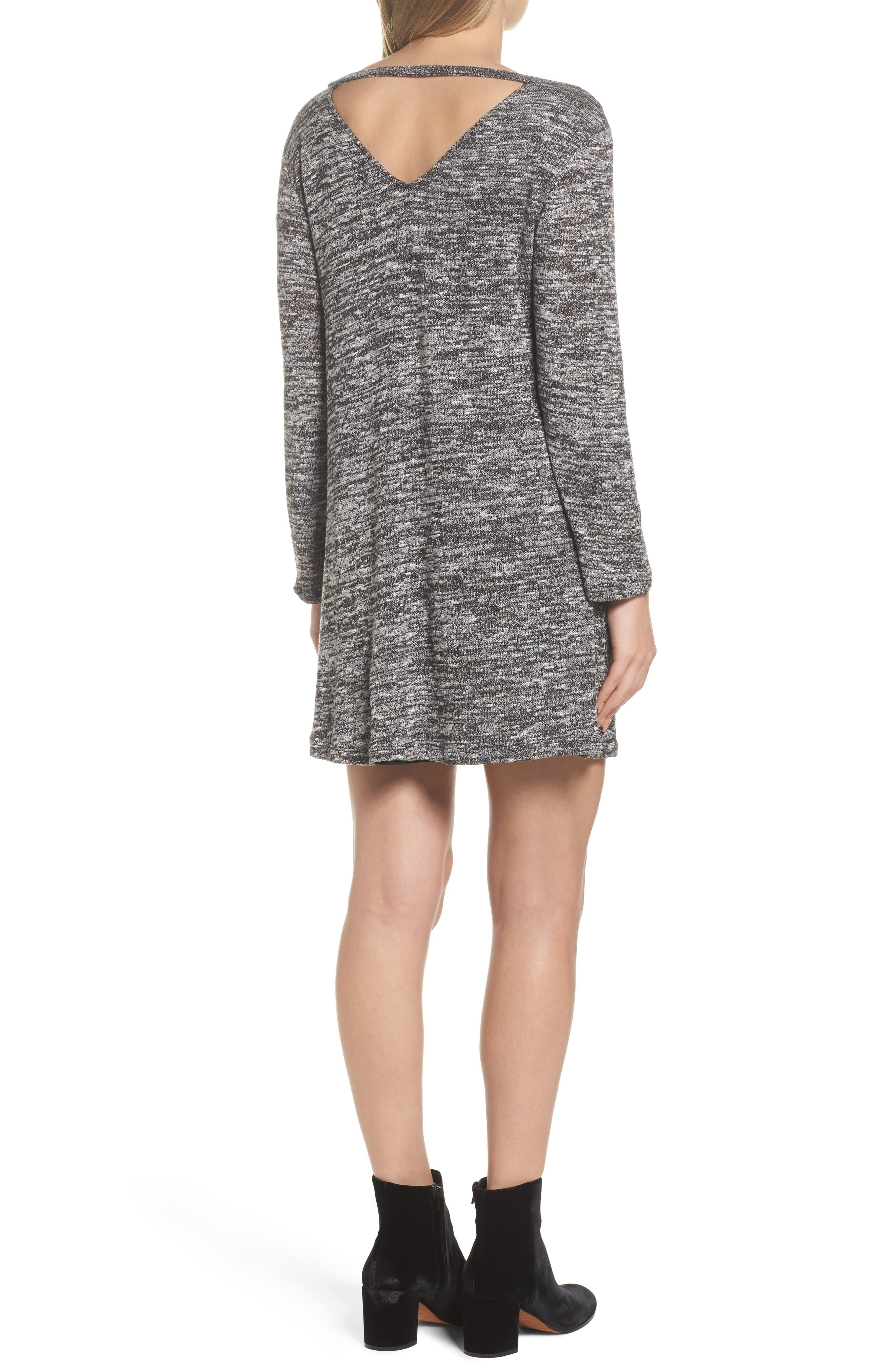Cutout Sweater Dress,                             Alternate thumbnail 2, color,                             004