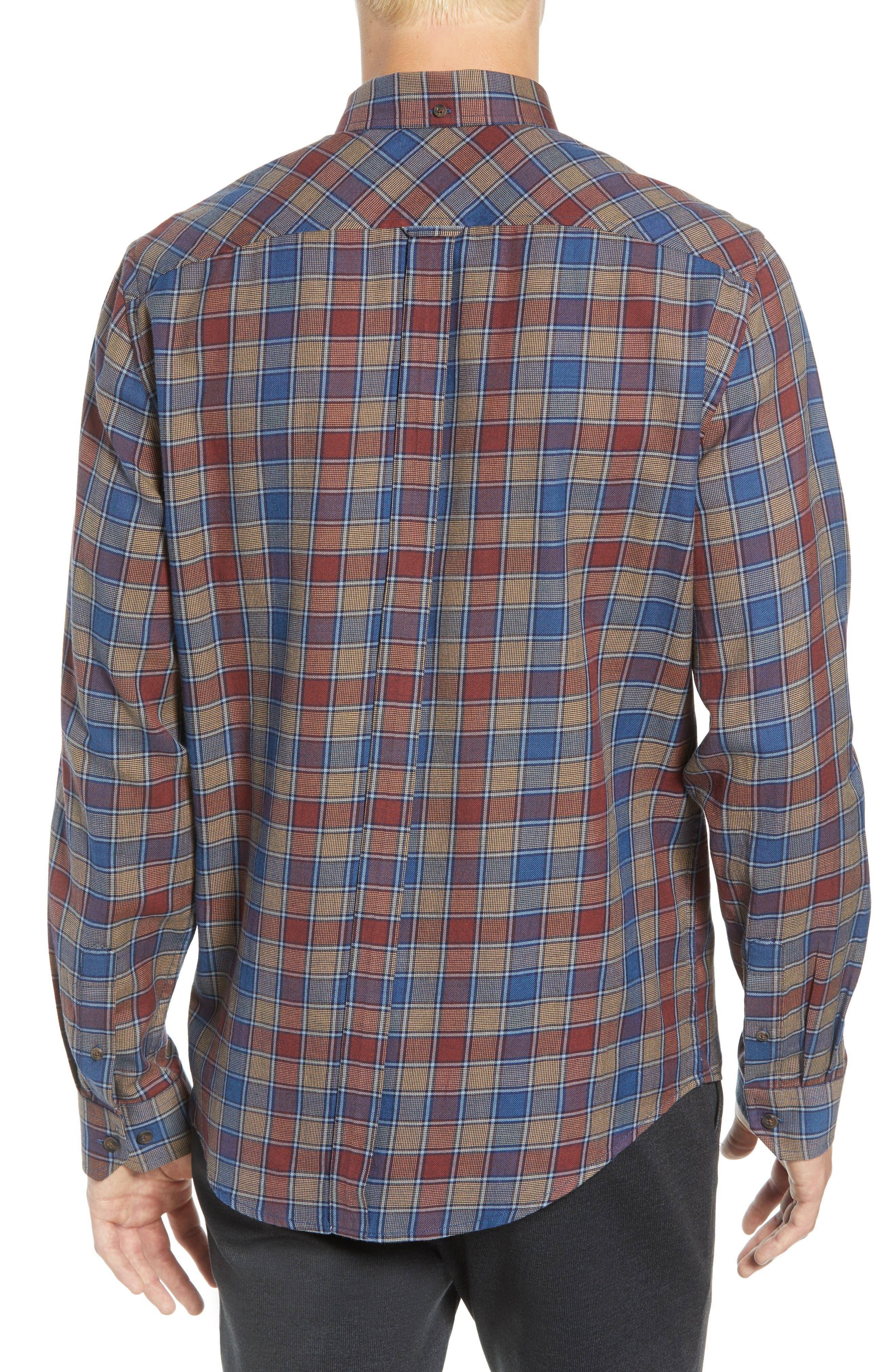 Heritage Check Slim Fit Sport Shirt,                             Alternate thumbnail 3, color,                             BURNT ORANGE