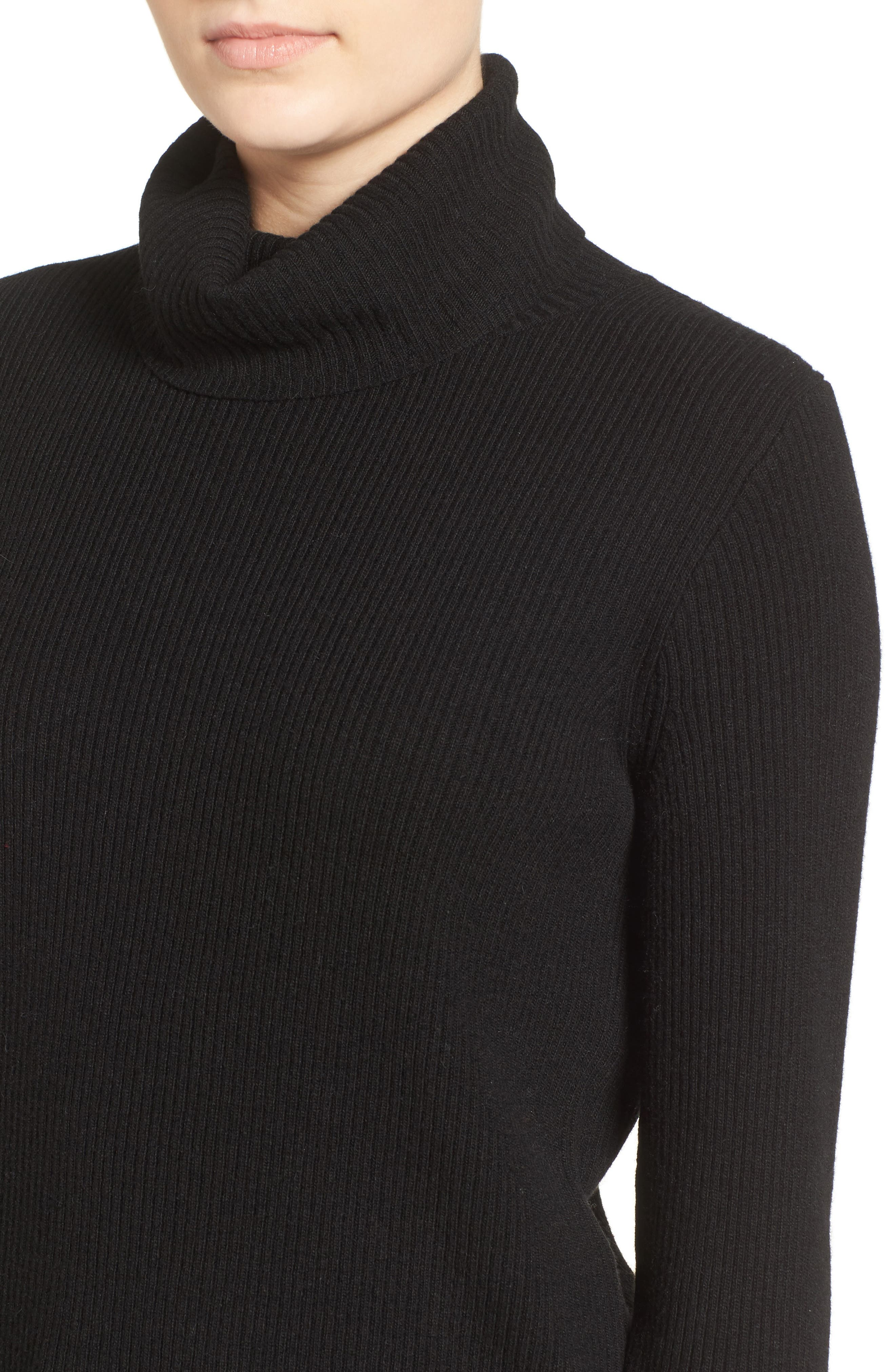 MADEWELL,                             Turtleneck Sweater,                             Alternate thumbnail 4, color,                             001