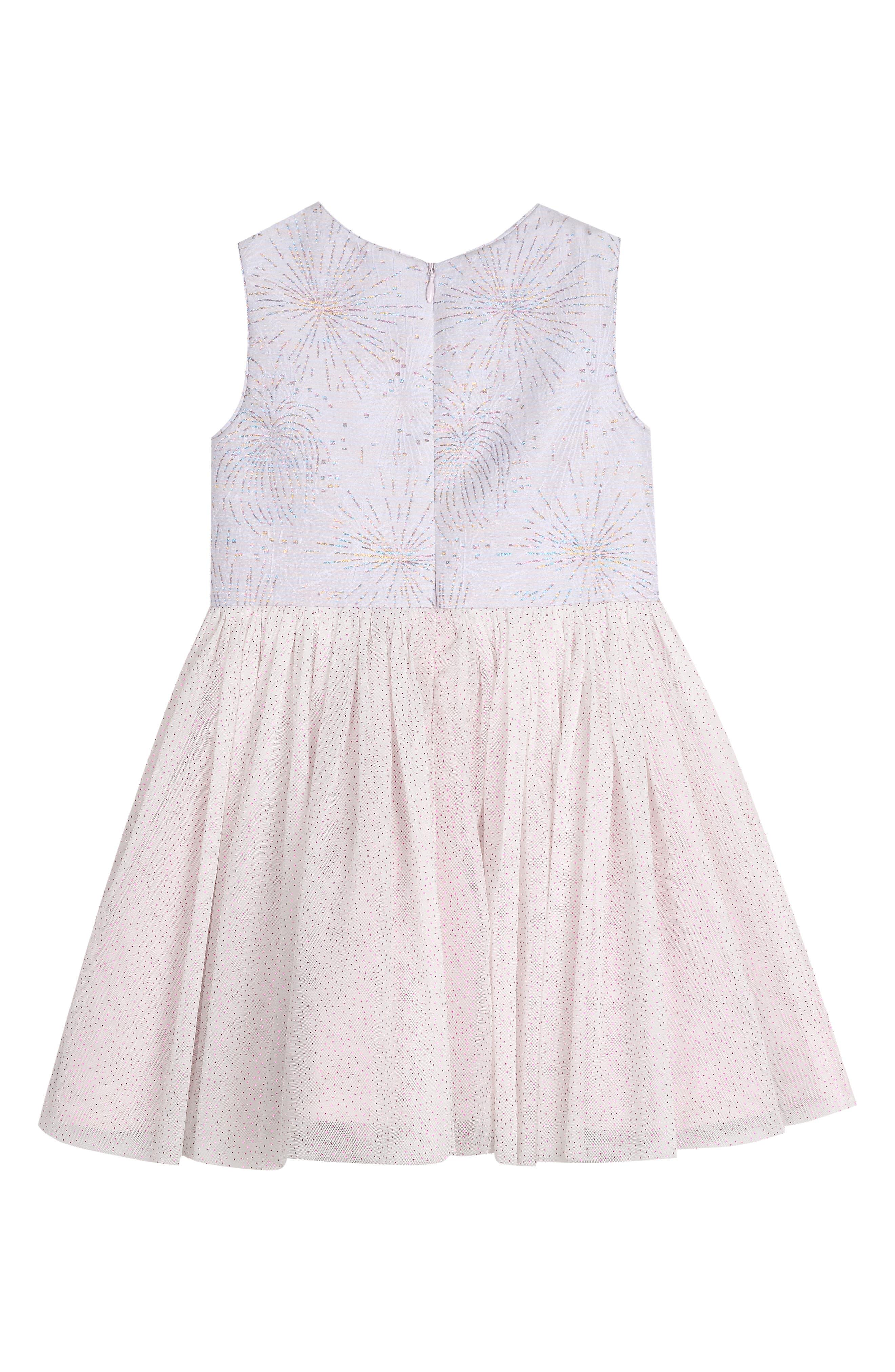 PIPPA & JULIE,                             Glitter Fireworks Tulle Dress,                             Alternate thumbnail 2, color,                             WHITE