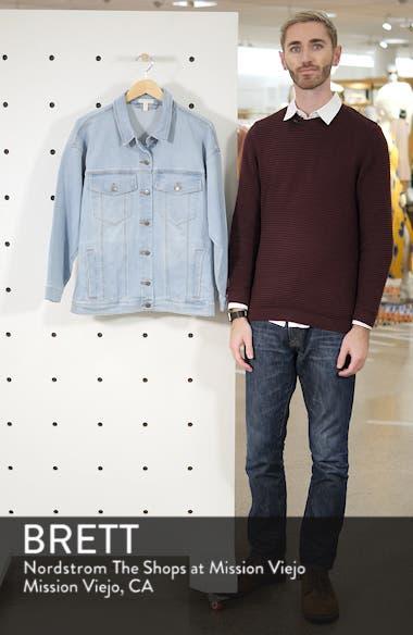 Oversize Stretch Organic Cotton Denim Jacket, sales video thumbnail