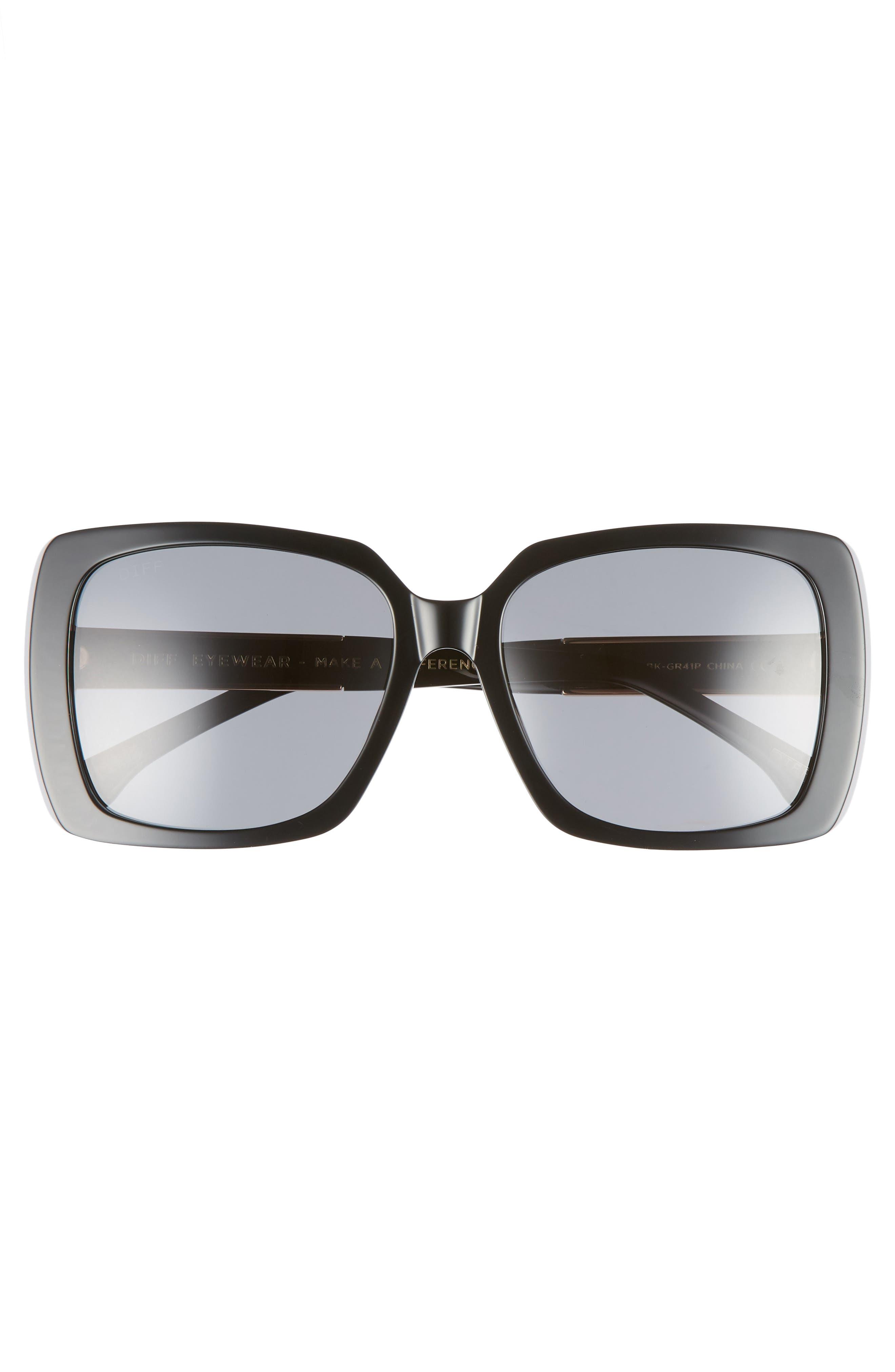 Sophie 52mm Polarized Sunglasses,                             Alternate thumbnail 3, color,                             001