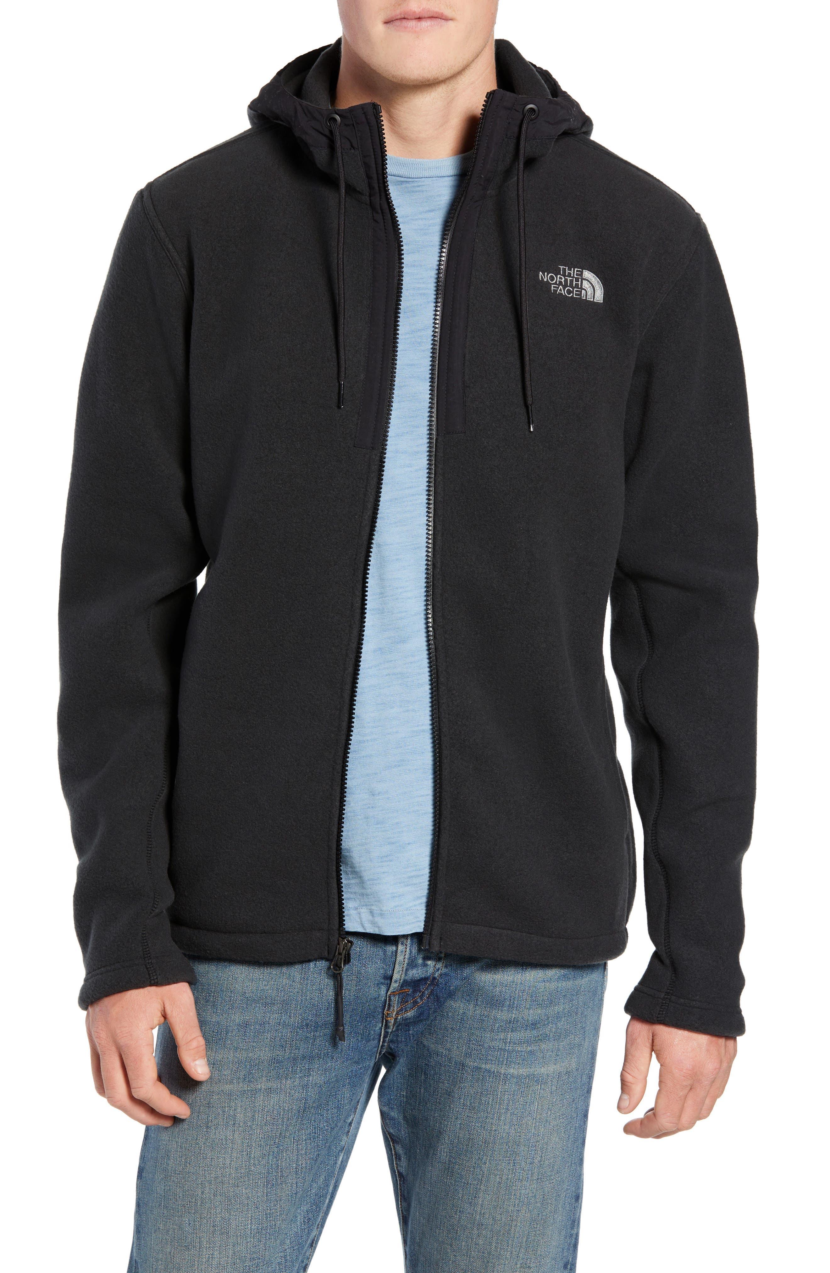 Pyrite Sweater Knit Fleece Hoodie,                         Main,                         color, TNF BLACK