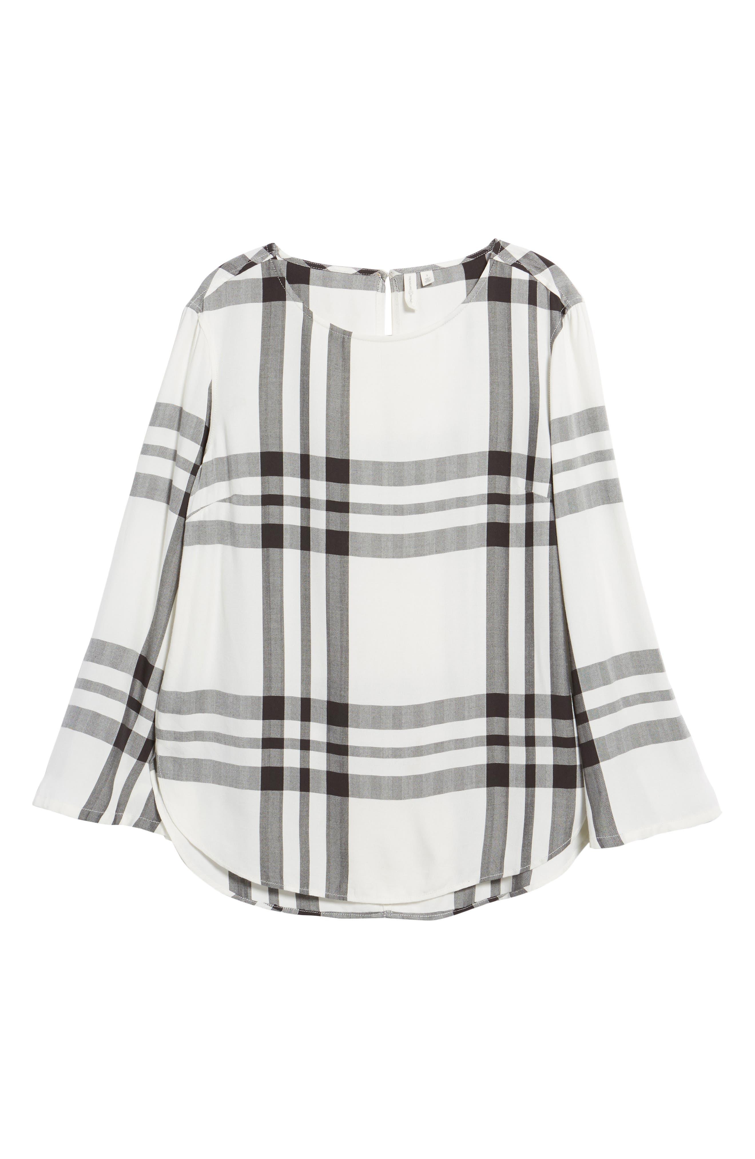 Bell Sleeve Shirt,                             Alternate thumbnail 6, color,