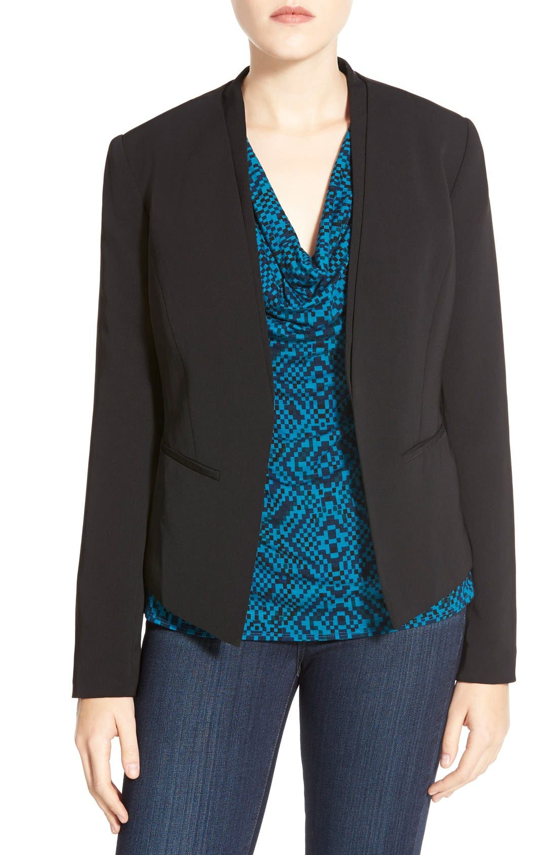 Open Front Blazer,                             Main thumbnail 1, color,                             001