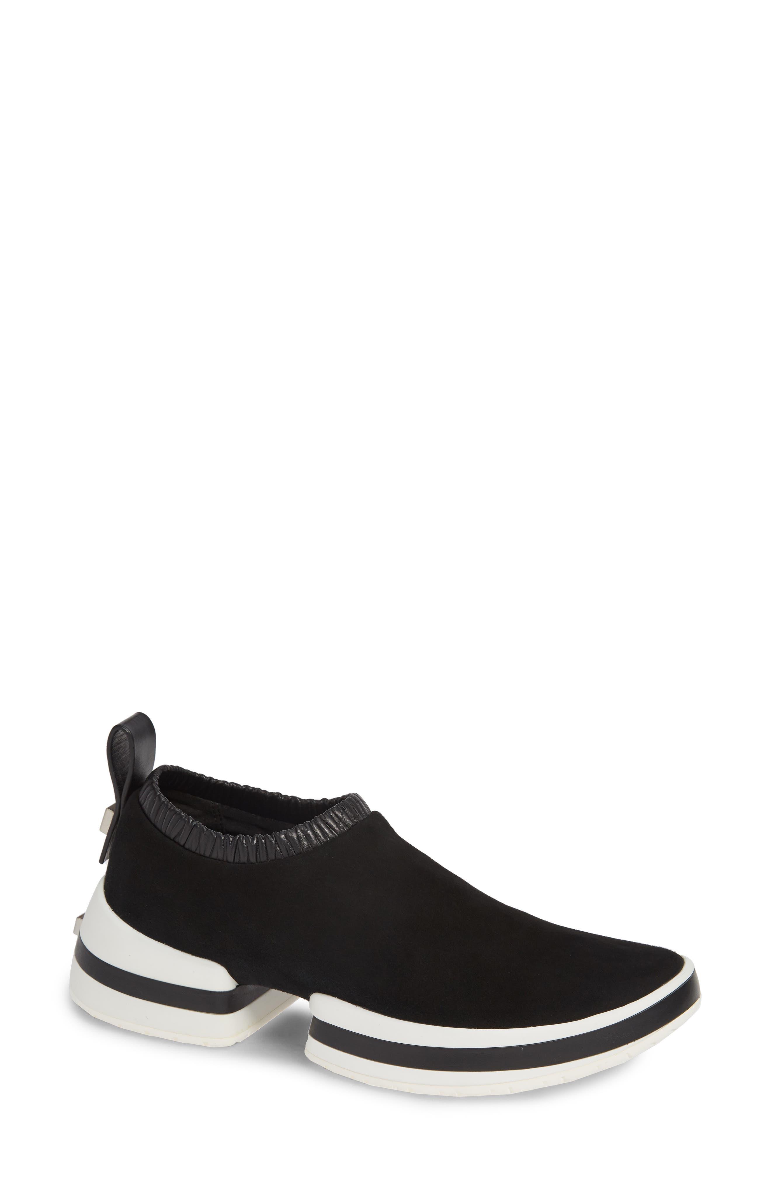 612 Sneaker,                         Main,                         color, BLACK SUEDE