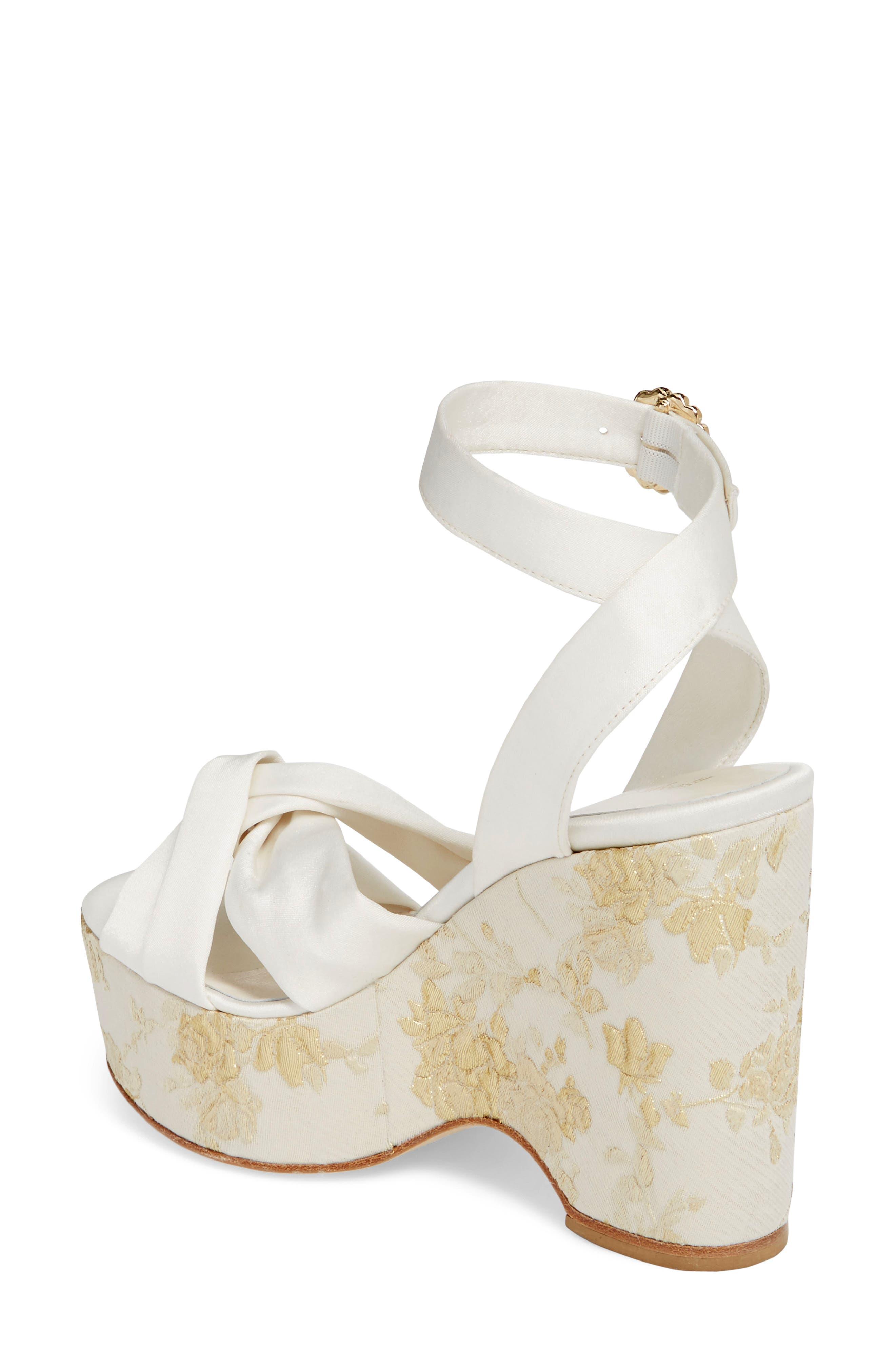 Serena Brocade Platform Sandal,                             Alternate thumbnail 8, color,