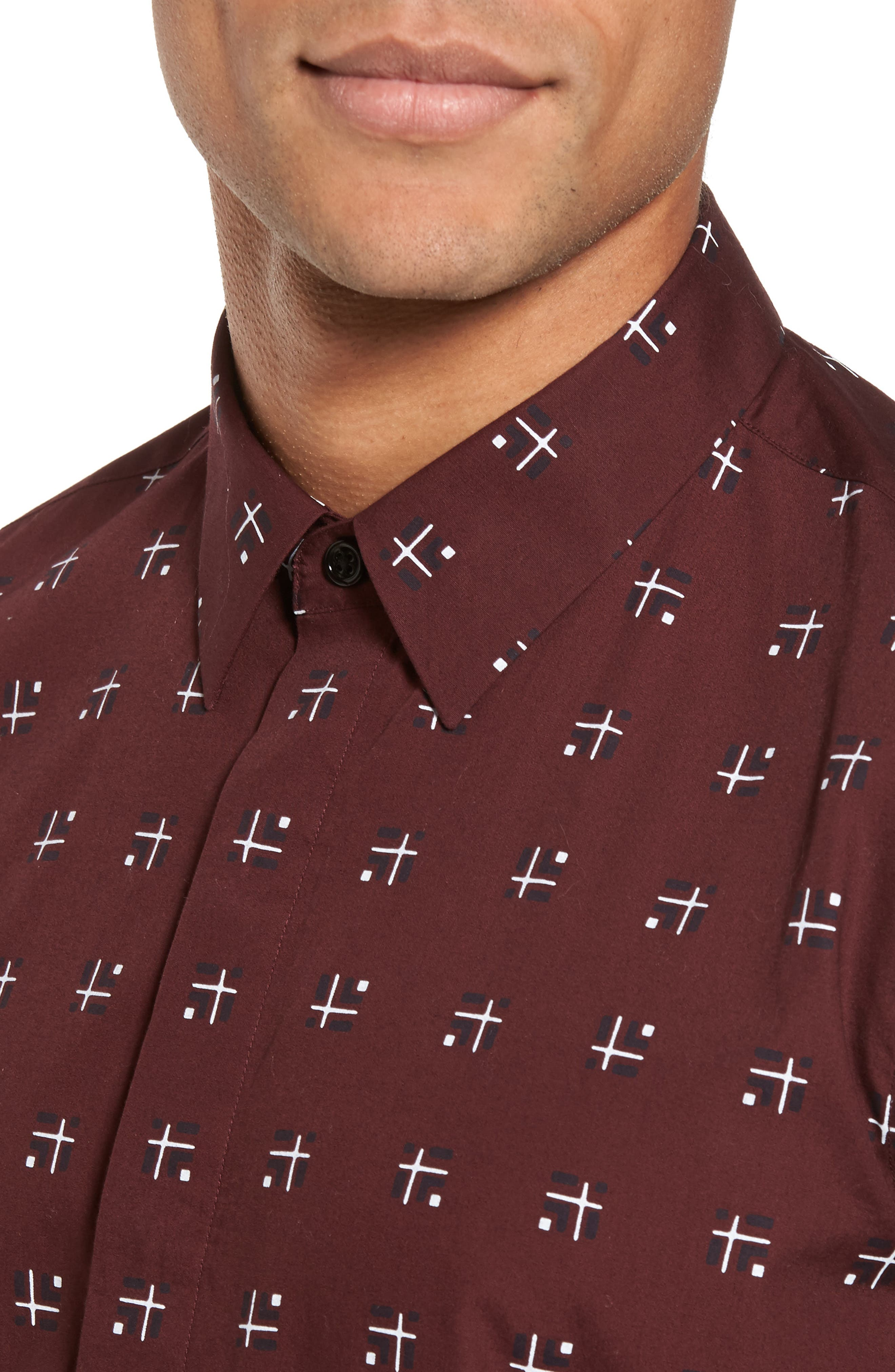 Levy Cross Box Regular Fit Sport Shirt,                             Alternate thumbnail 8, color,