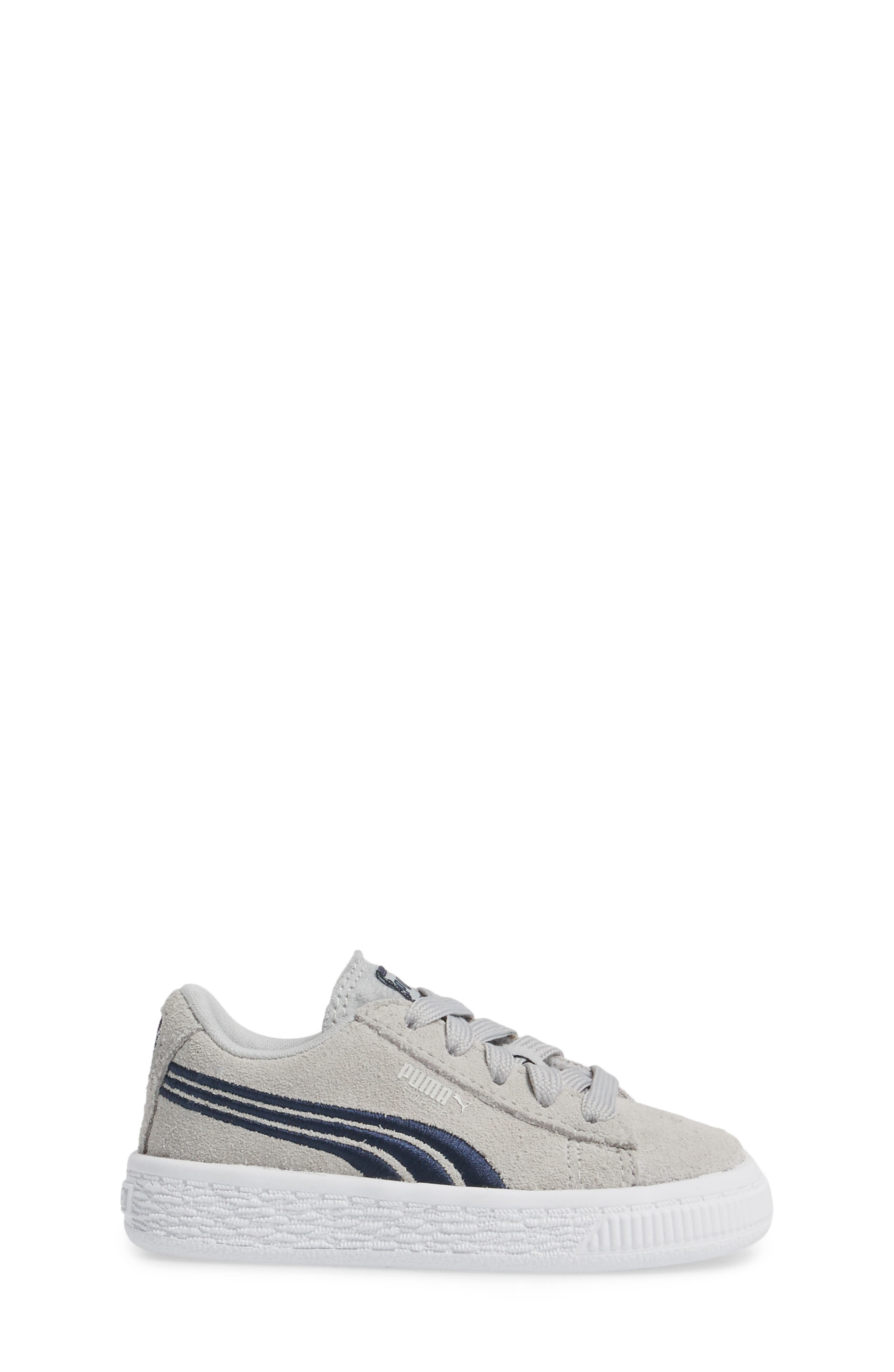 Suede Classic Badge Sneaker,                             Alternate thumbnail 3, color,                             060