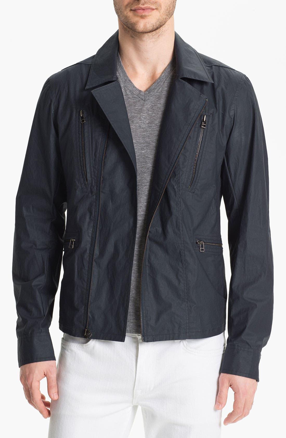 Cotton Canvas Moto Jacket,                             Main thumbnail 1, color,                             477