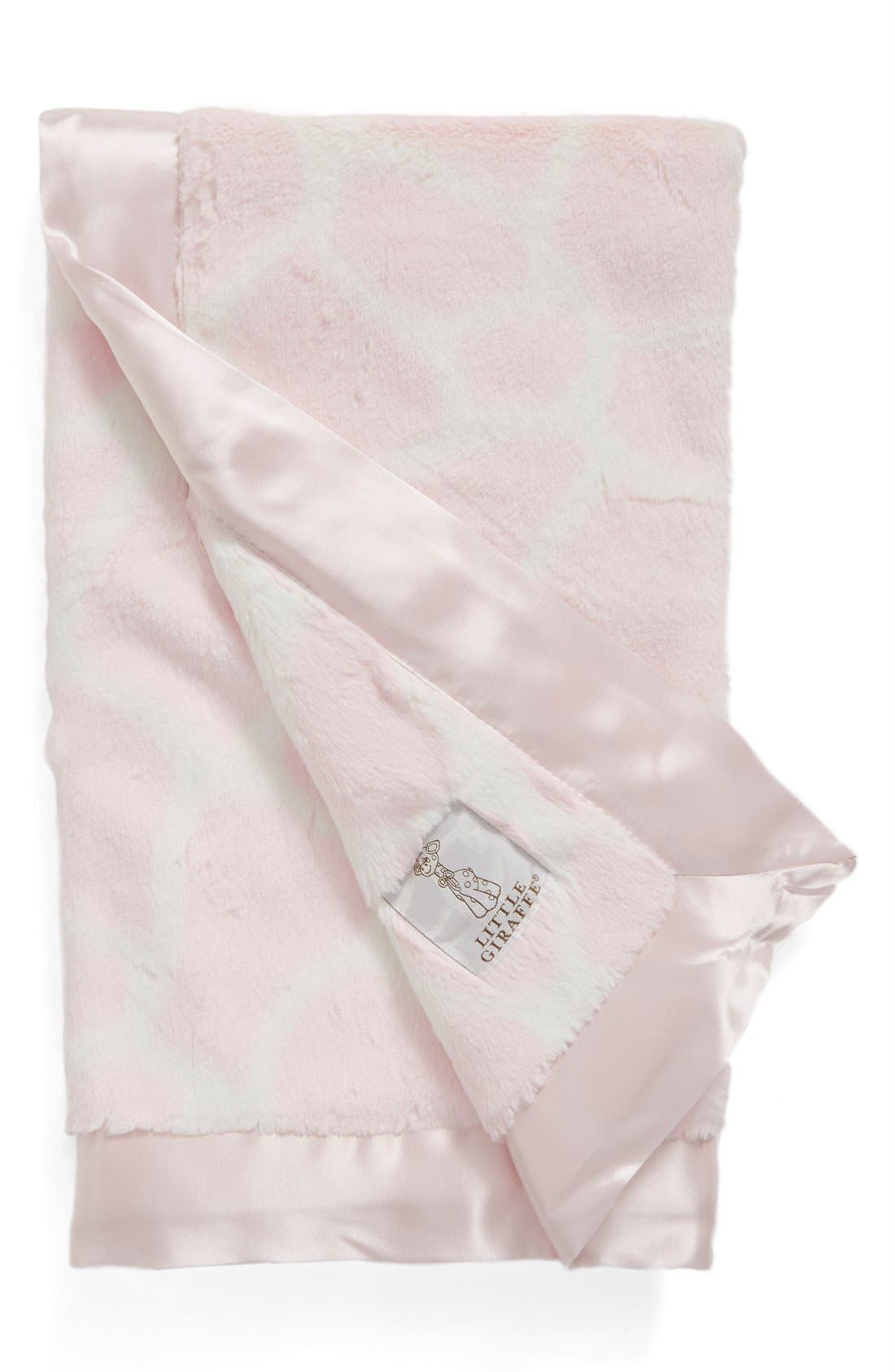 'Luxe Giraffe Print<sup>™</sup>' Blanket,                         Main,                         color, PINK