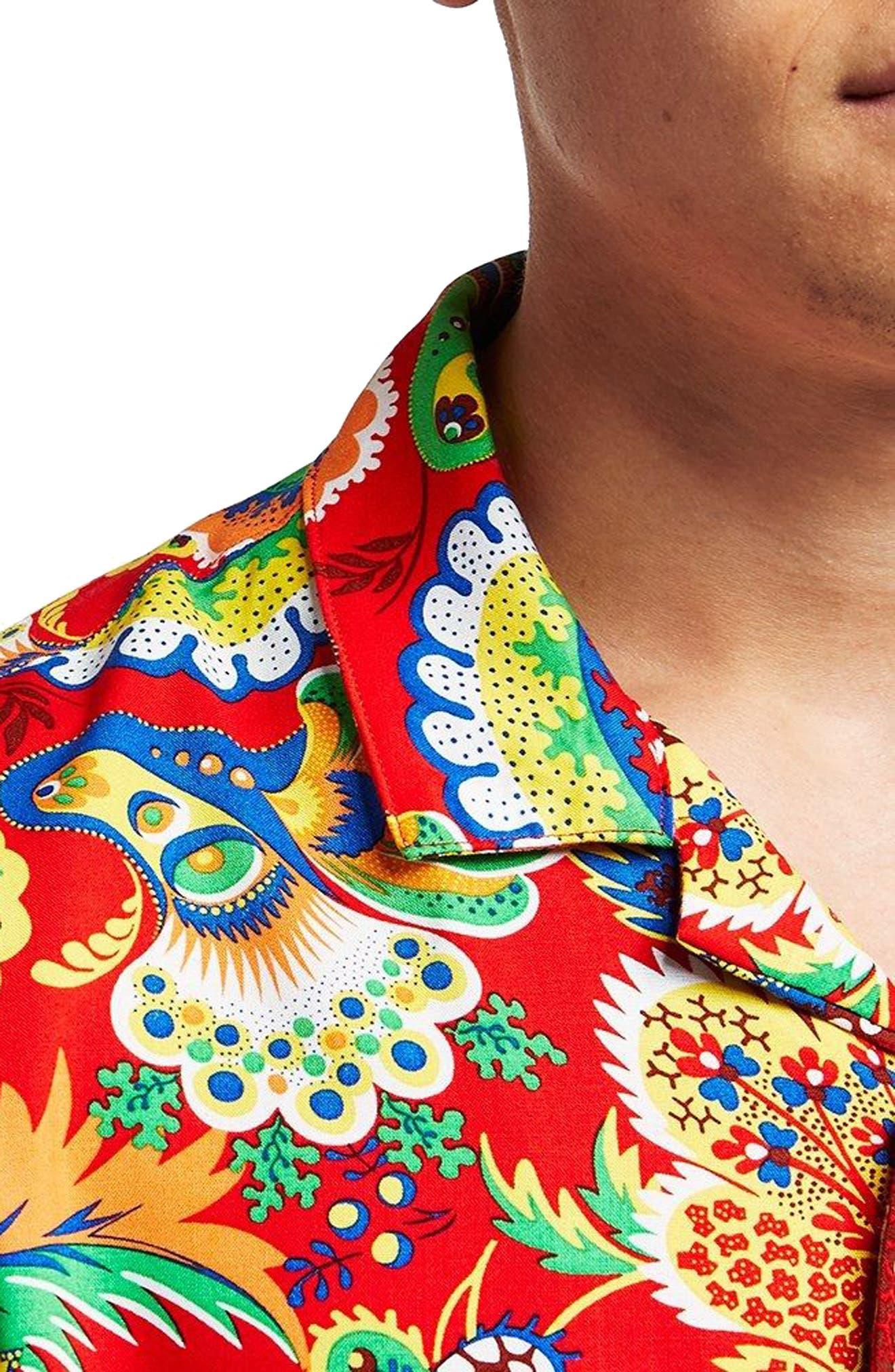 Multi Print Shirt,                             Alternate thumbnail 2, color,                             600